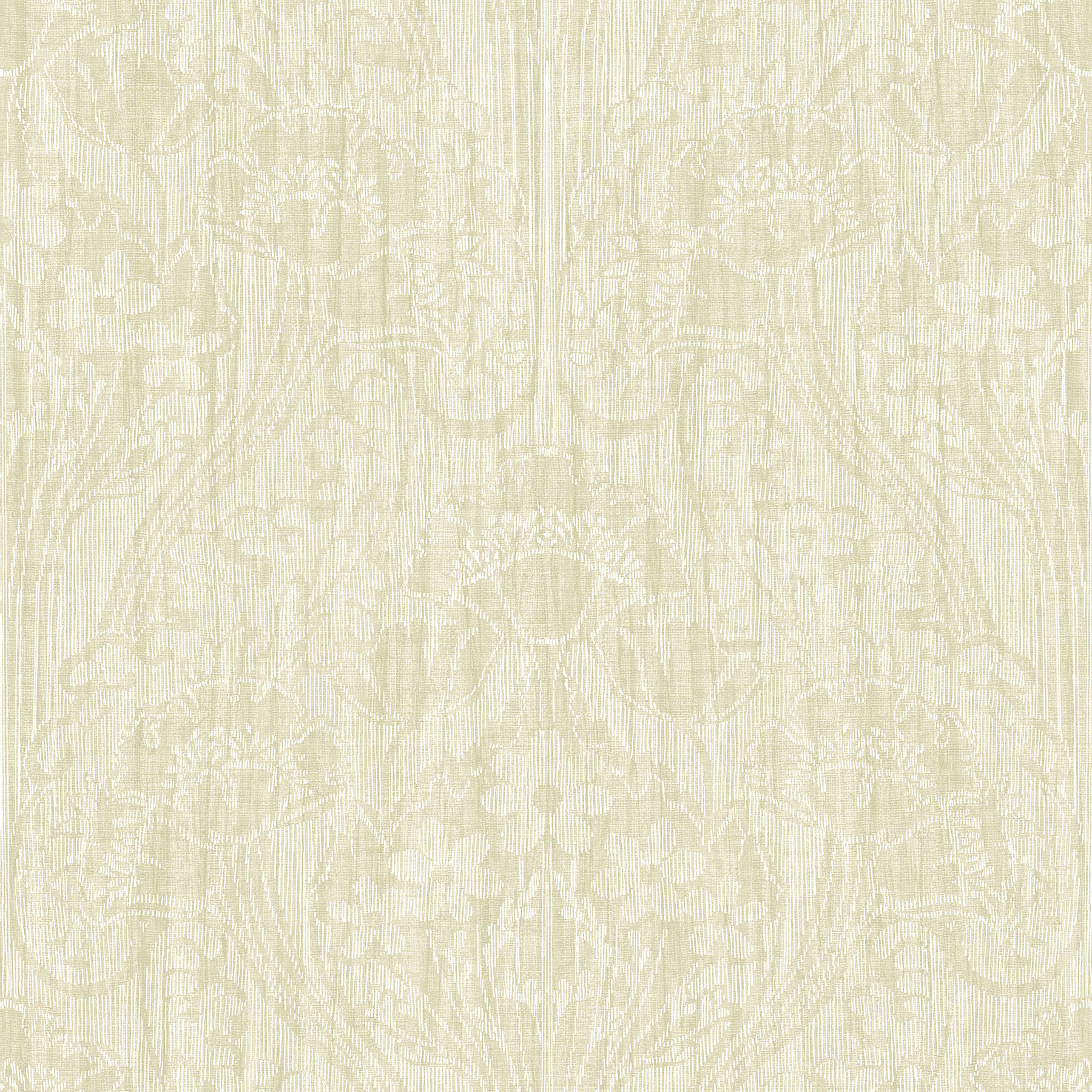 Picture of Brown Linen Damask Wallpaper