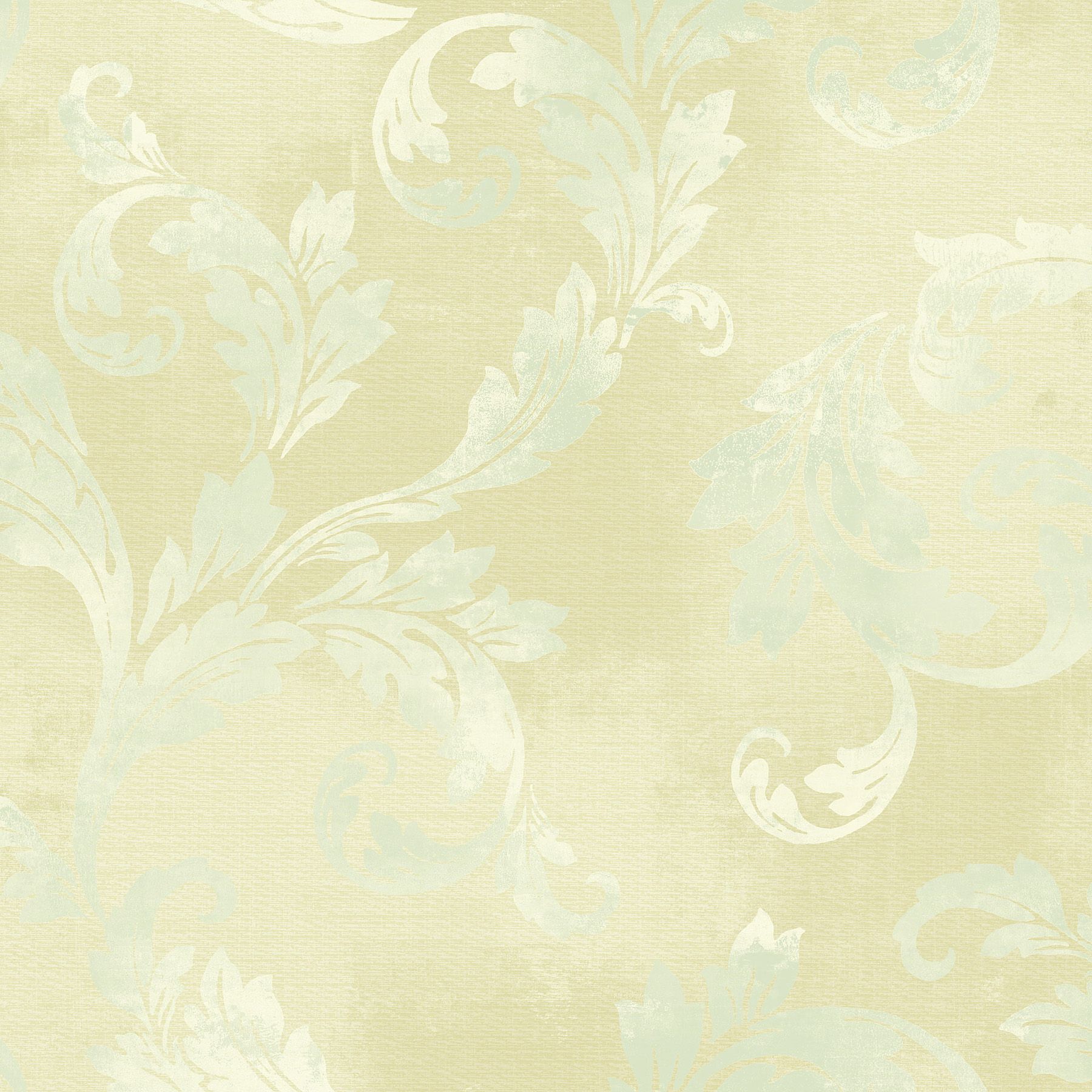 Picture of Beige Clean Acanthus Leaf Scroll Wallpaper