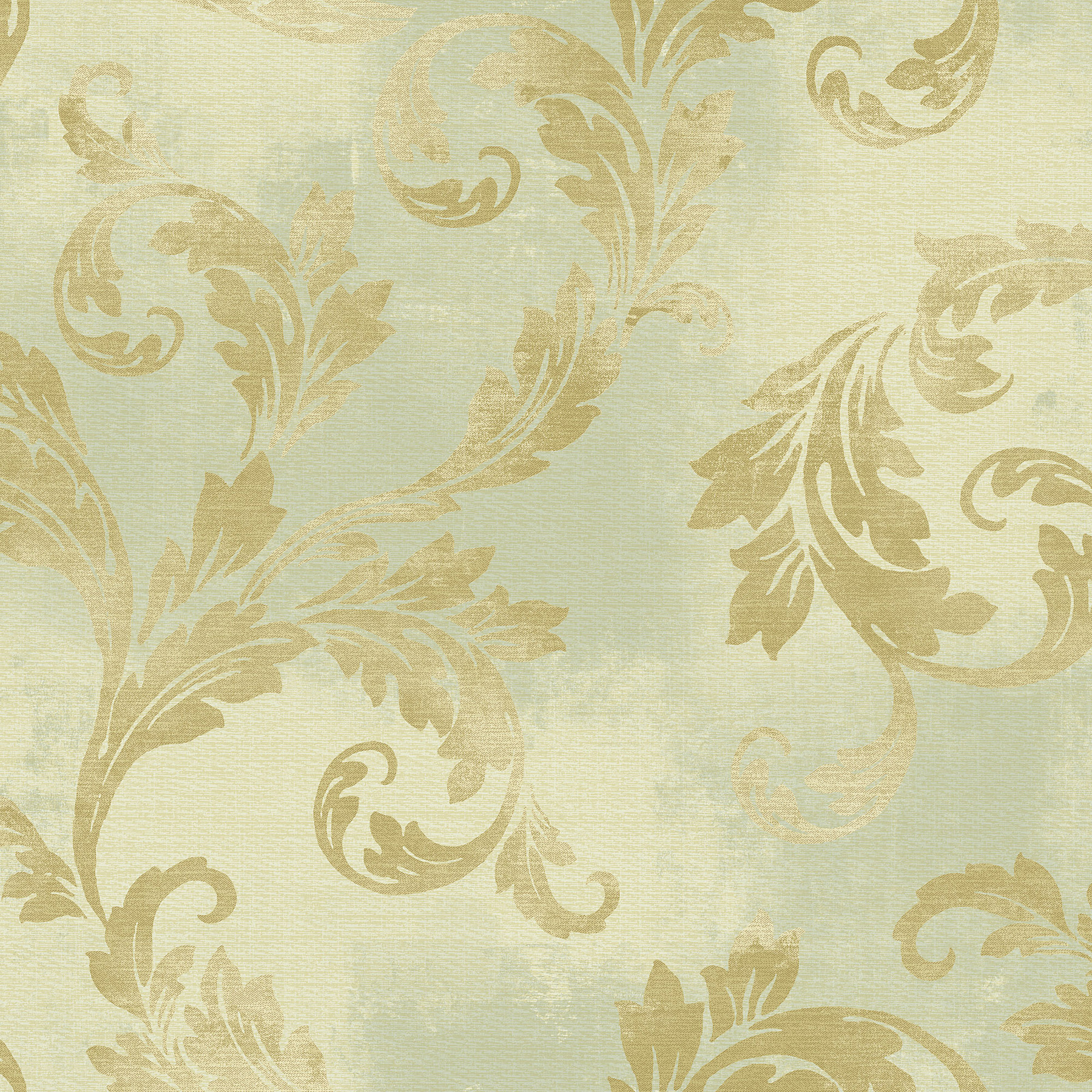 Picture of Bronze Clean Acanthus Leaf Scroll Wallpaper