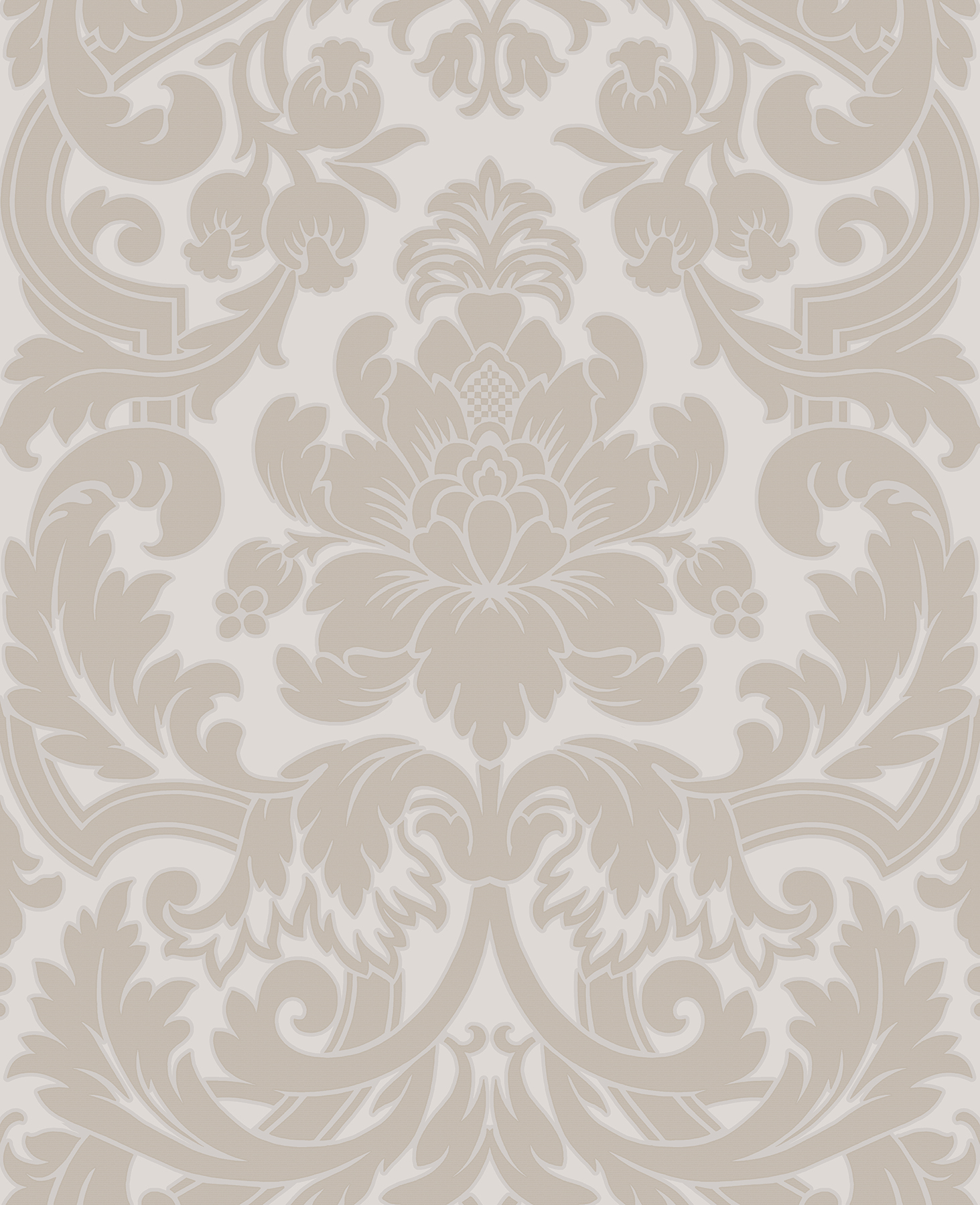 Picture of Blythe Neutral Damask Wallpaper