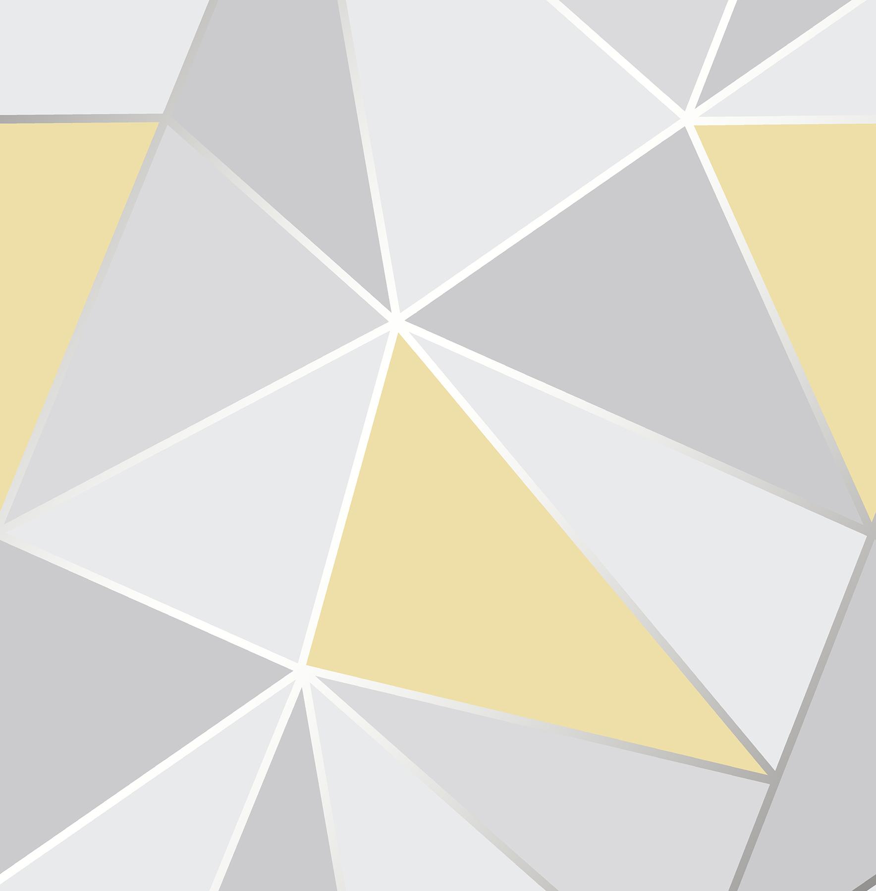 Picture of Arken Yellow Geometric Wallpaper