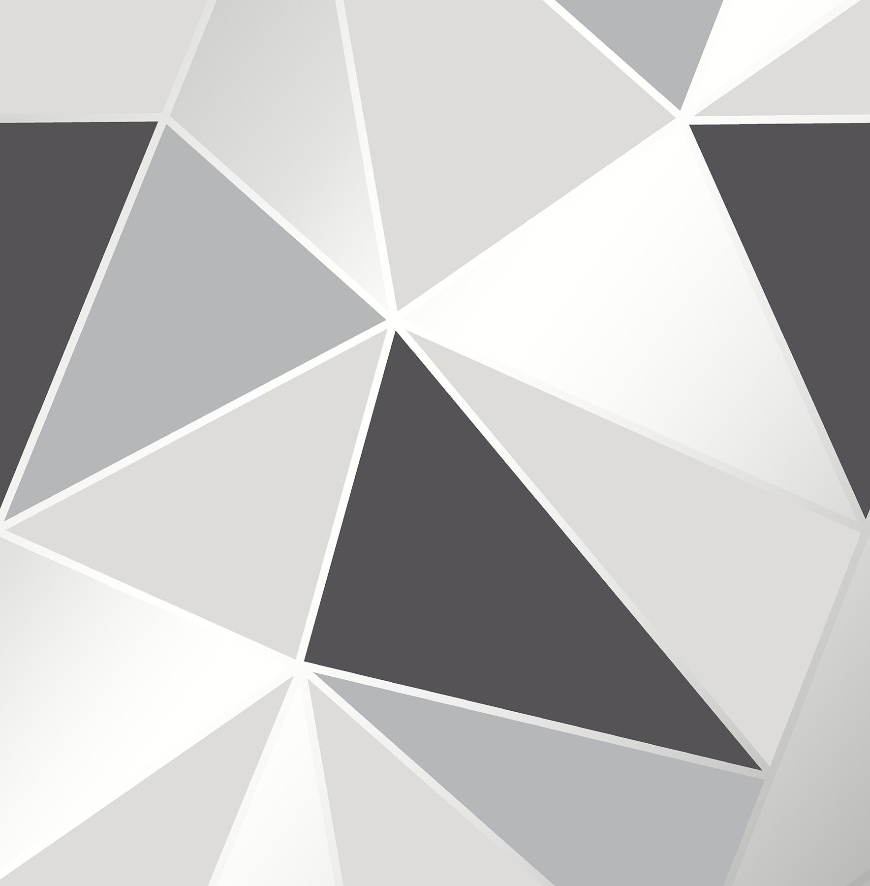 Picture of Arken Black Geometric Wallpaper