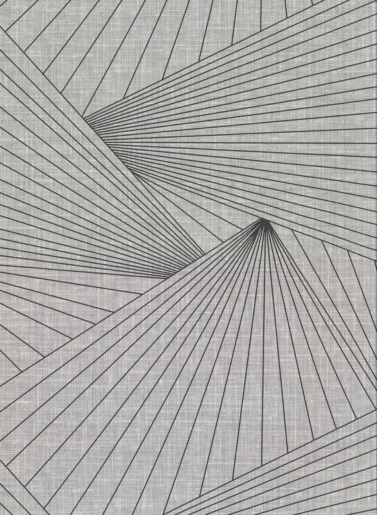Picture of Berkeley Grey Geometric Faux Linen Wallpaper