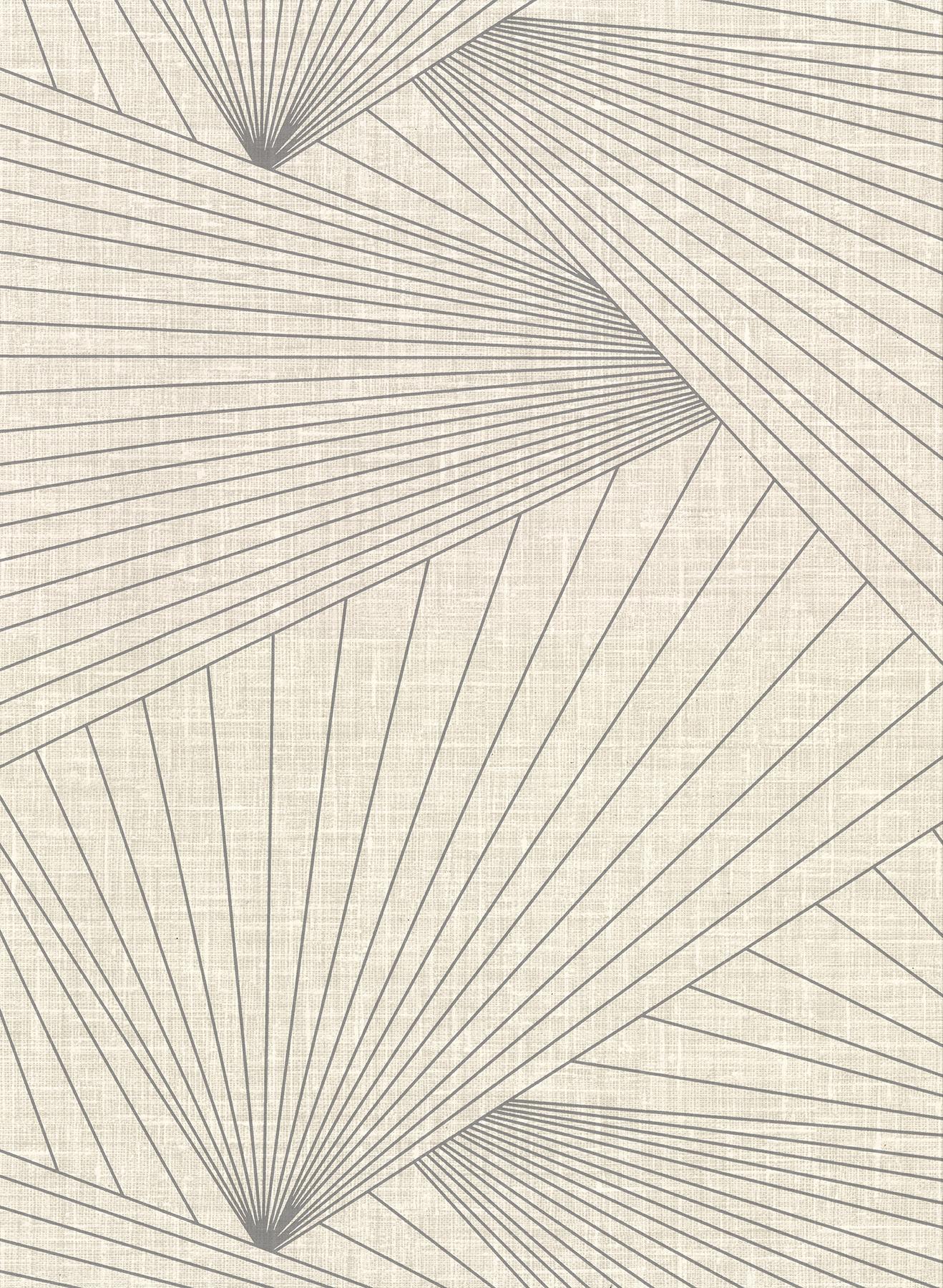 Picture of Berkeley Eggshell Geometric Faux Linen Wallpaper
