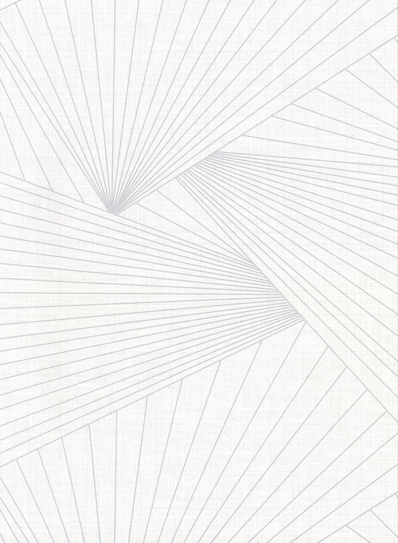 Picture of Berkeley White Geometric Faux Linen Wallpaper