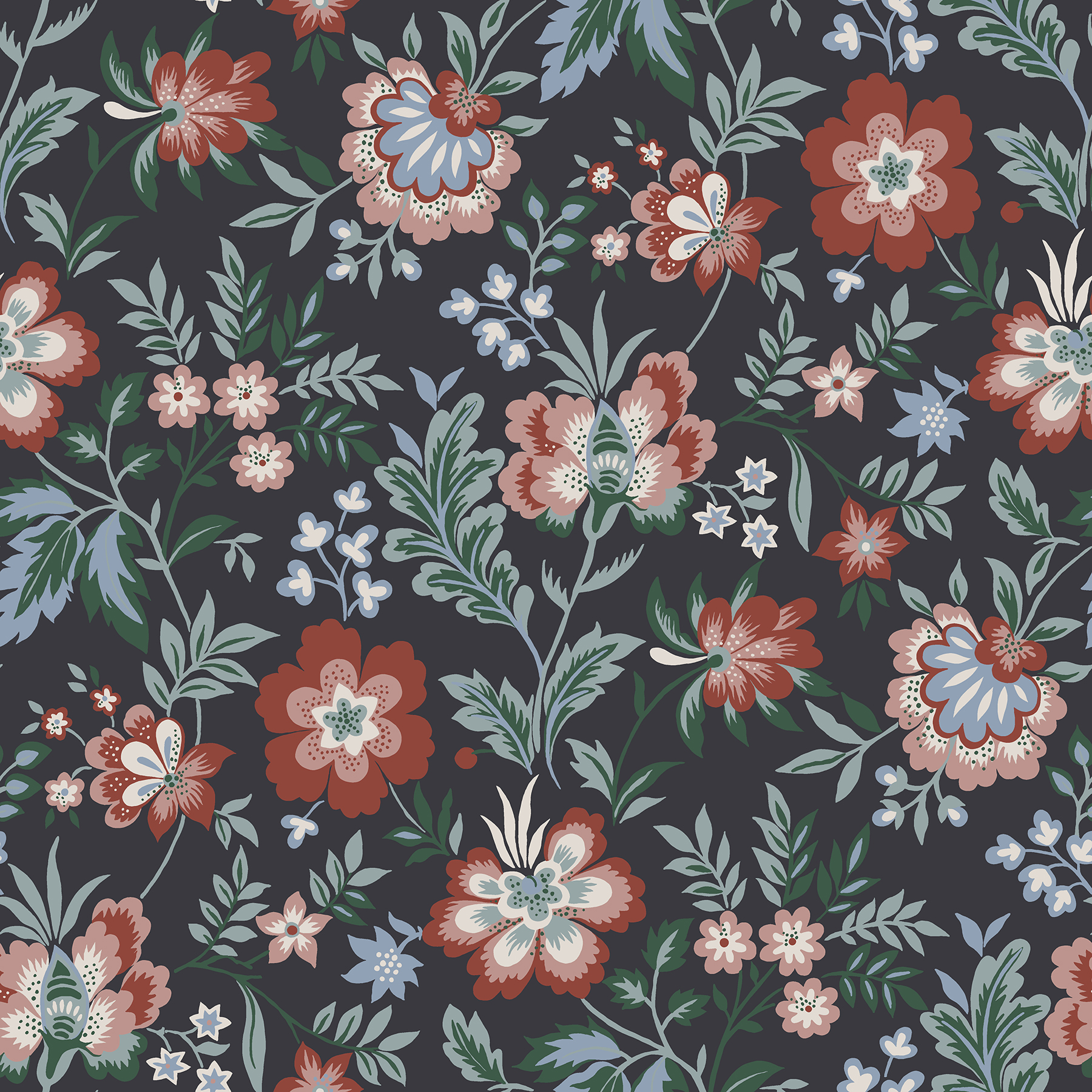 Picture of Athena Multicolor Floral Wallpaper