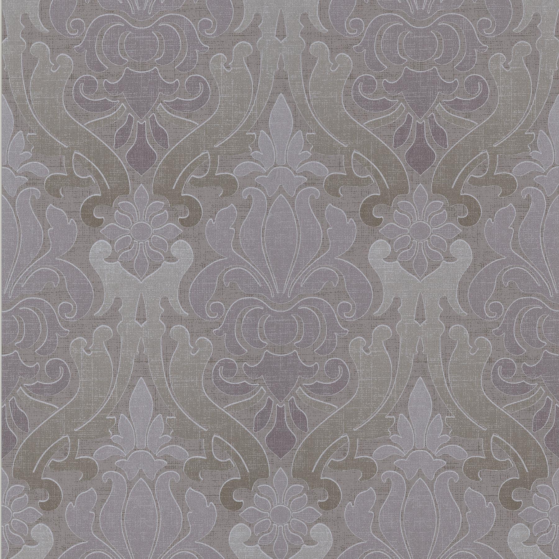 Picture of Aquitaine Purple Nouveau Damask Wallpaper