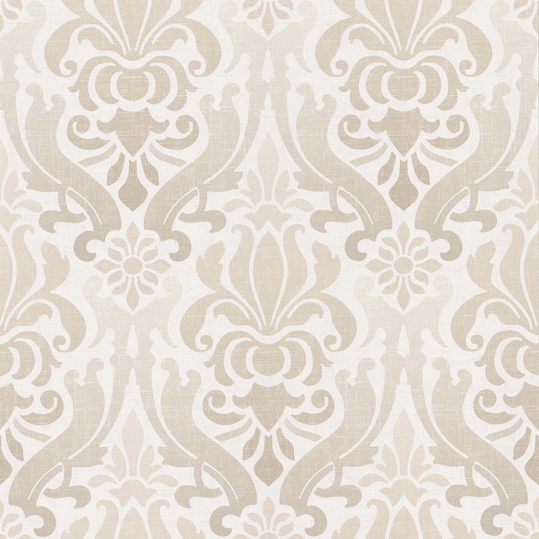Picture of Aquitaine Cream Nouveau Damask Wallpaper