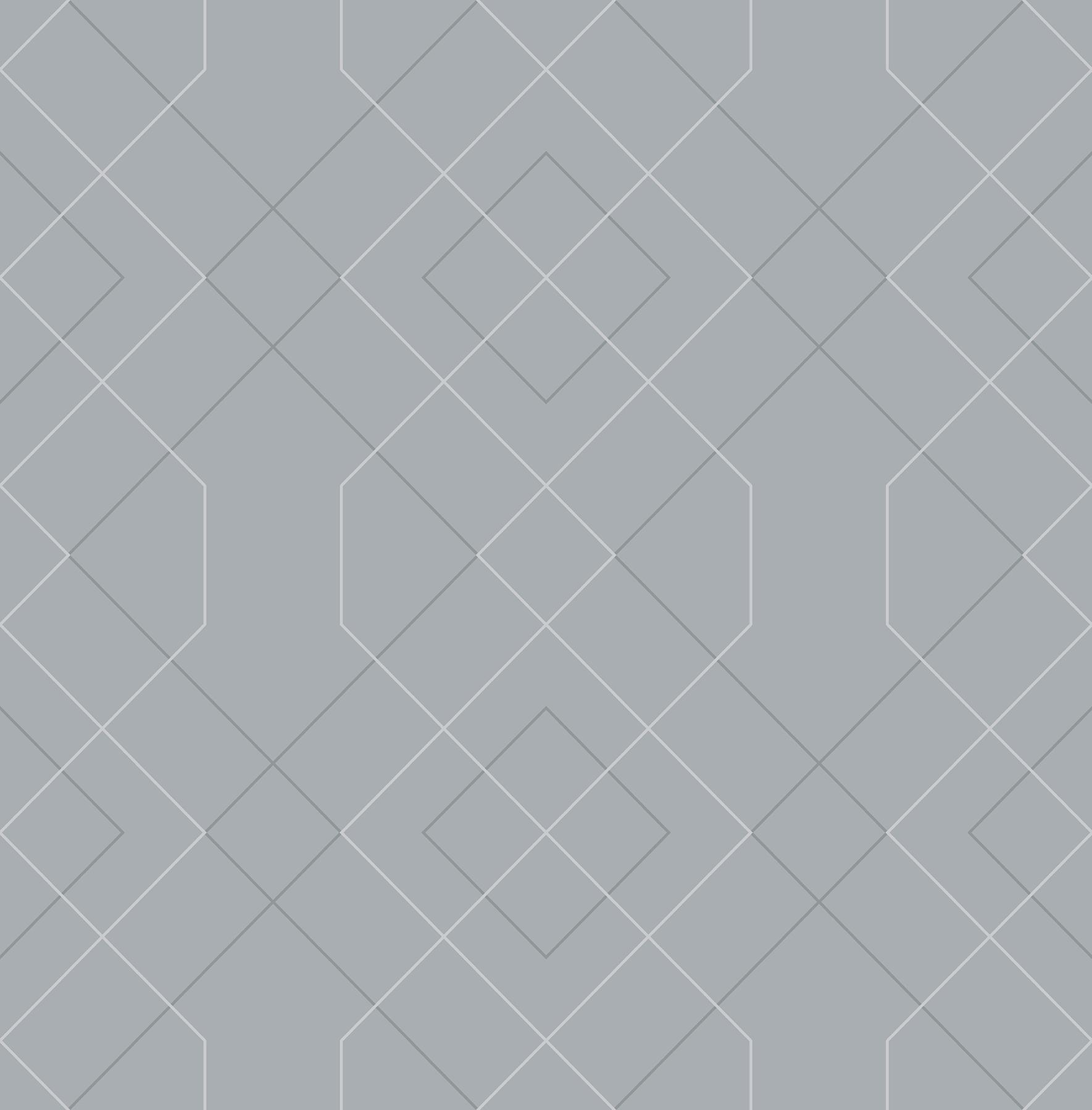 Picture of Ballard Pewter Geometric Wallpaper