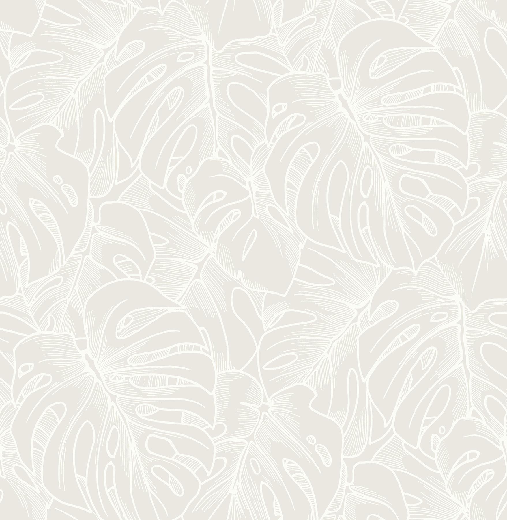 Picture of Balboa White Botanical Wallpaper