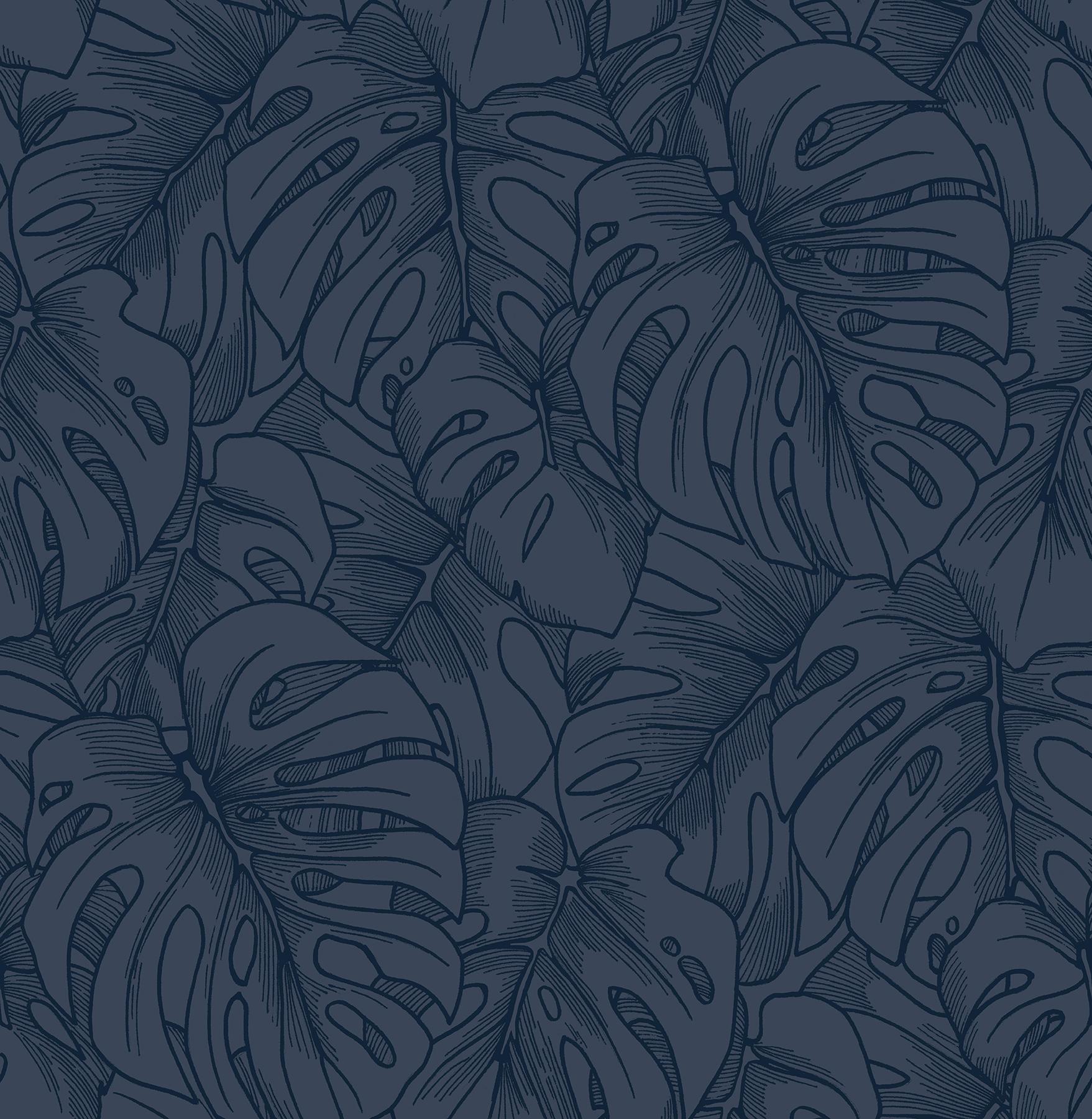 Picture of Balboa Indigo Botanical Wallpaper