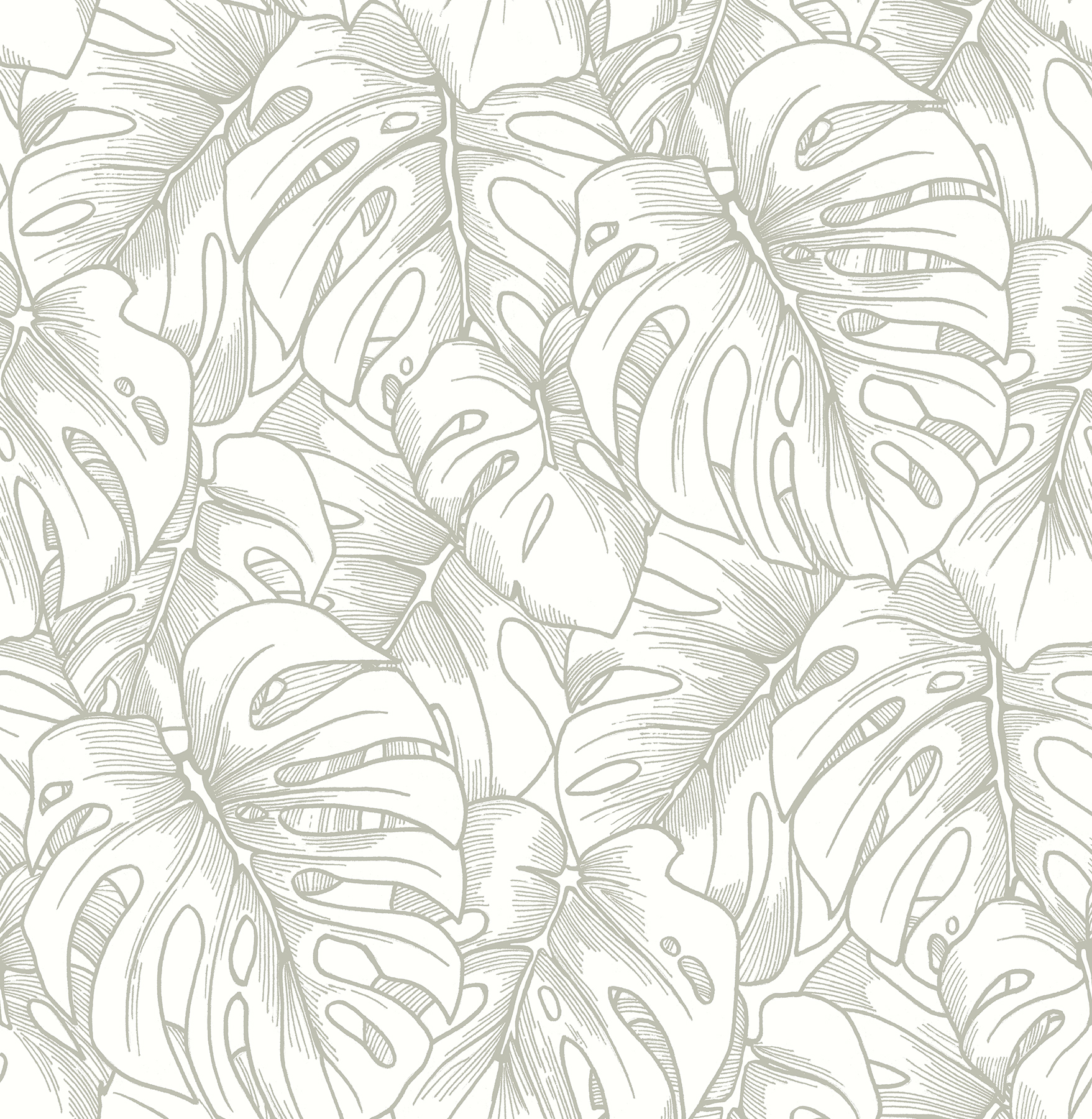 Picture of Balboa Silver Botanical Wallpaper