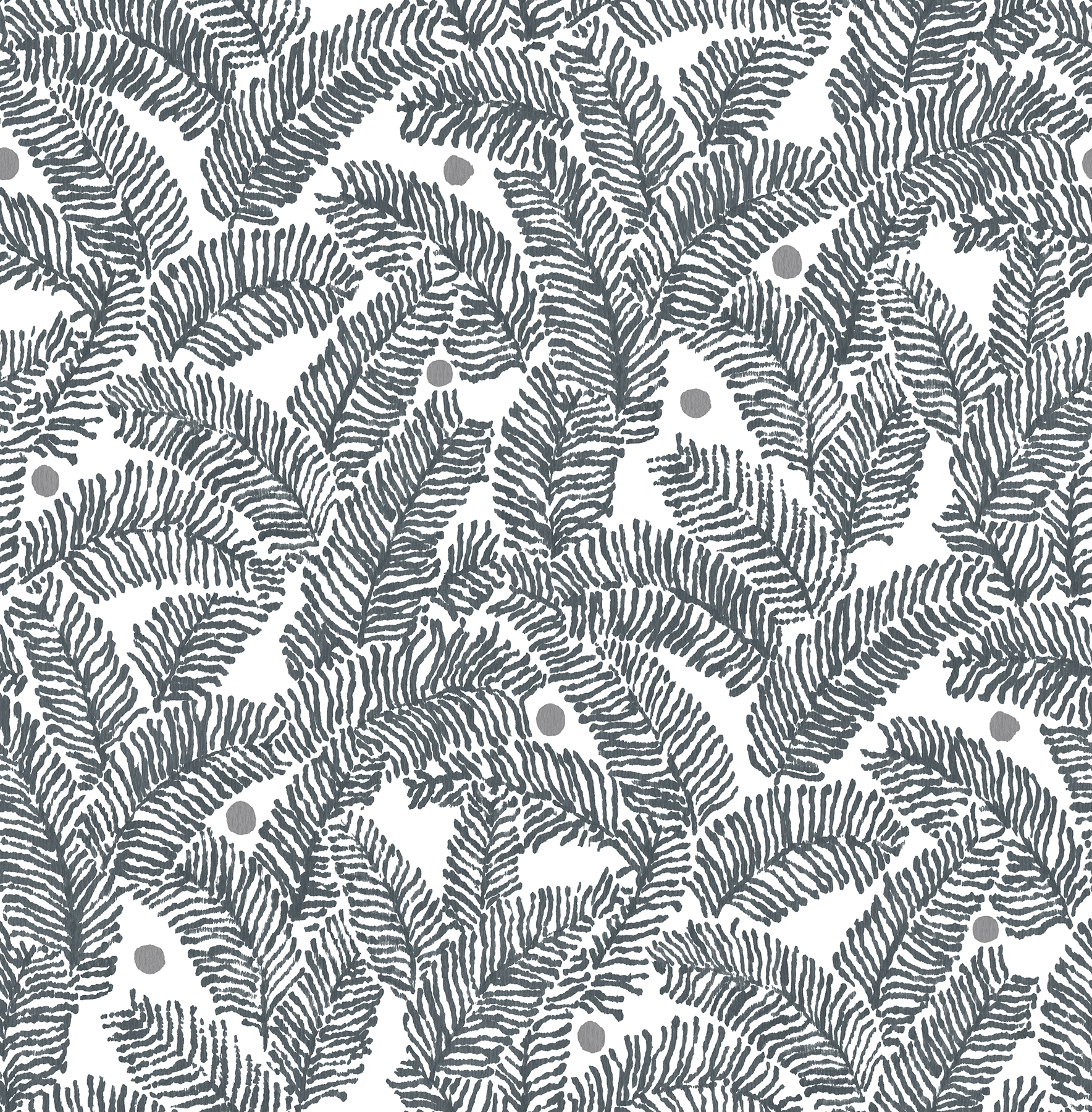 Picture of Athina Grey Fern Wallpaper