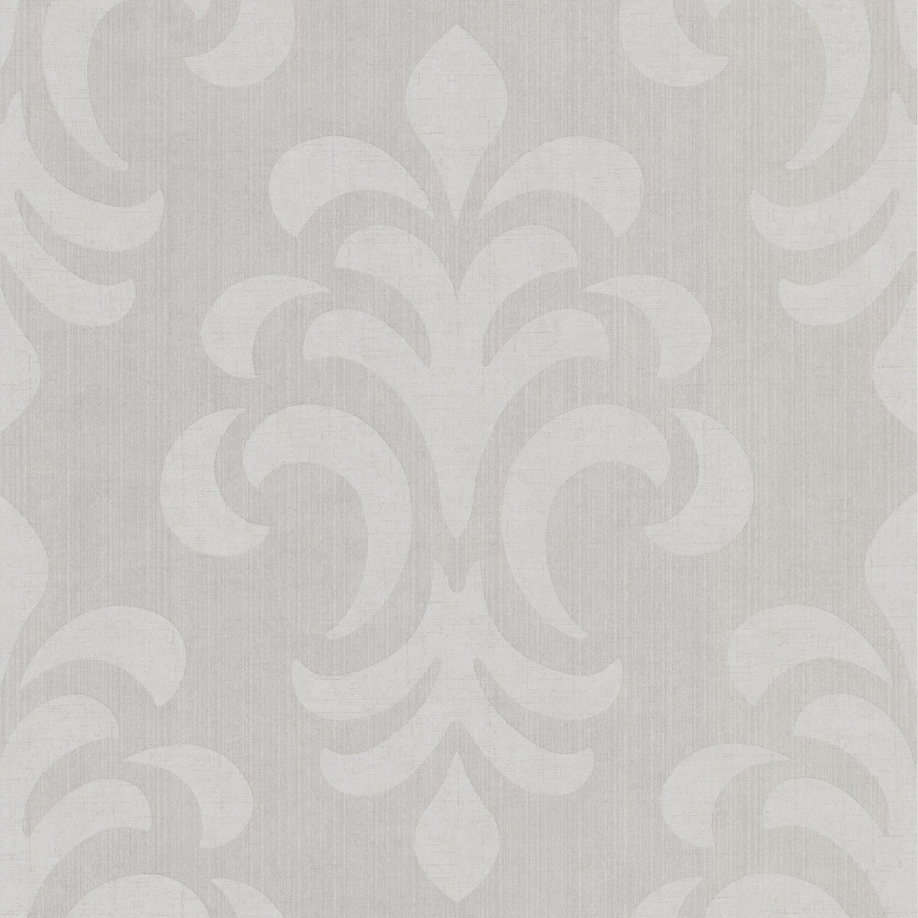 Picture of Atlantic Damask Grey Modern Damask Wallpaper