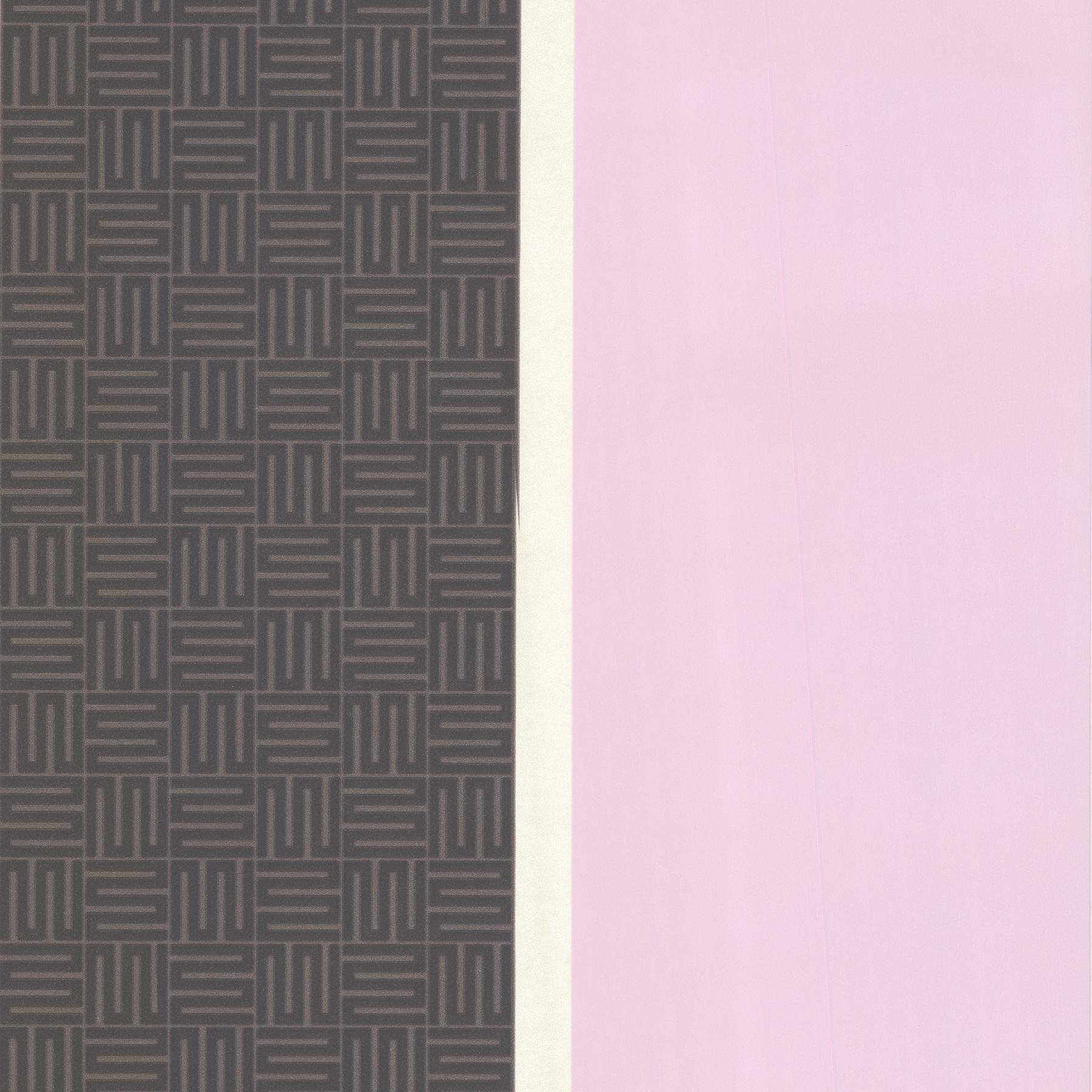 Picture of Black Geo Square Stripe Wallpaper