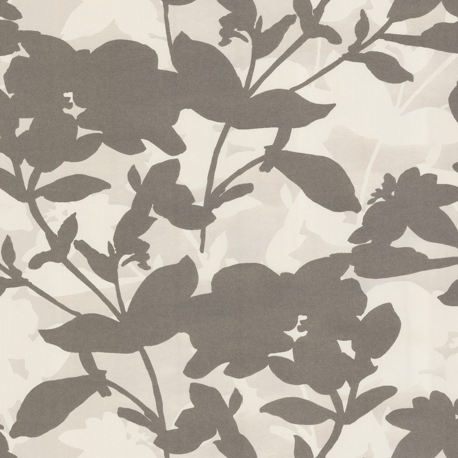 Picture of Brown Large Scale Floral Wallpaper