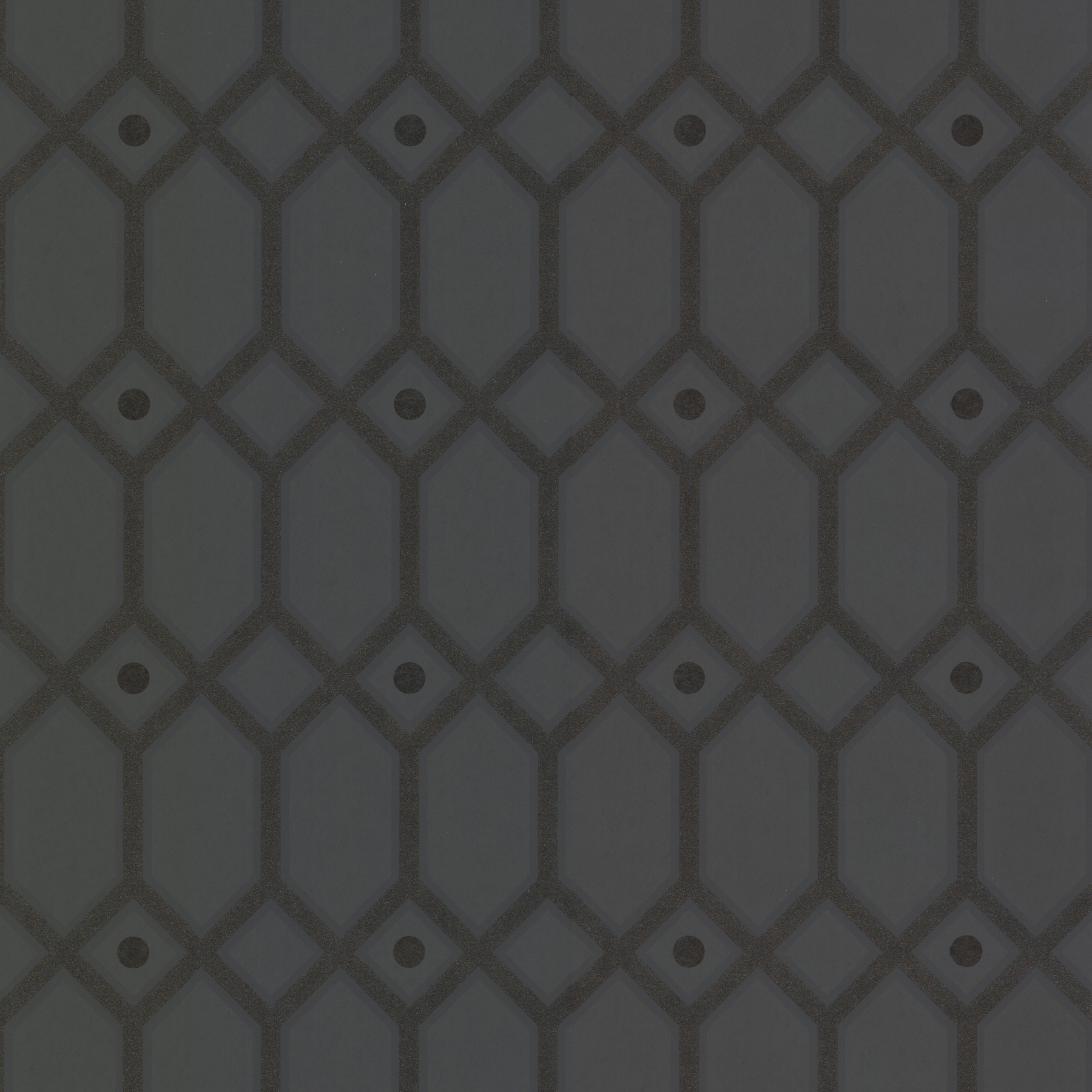 Picture of Black Ironwork Wallpaper