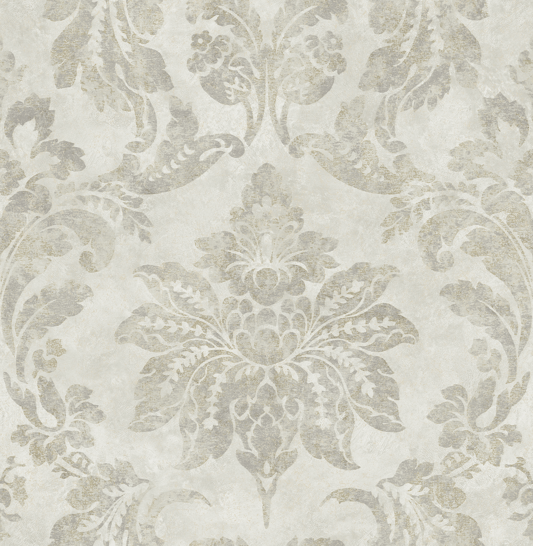 Picture of Astor Silver Damask Wallpaper