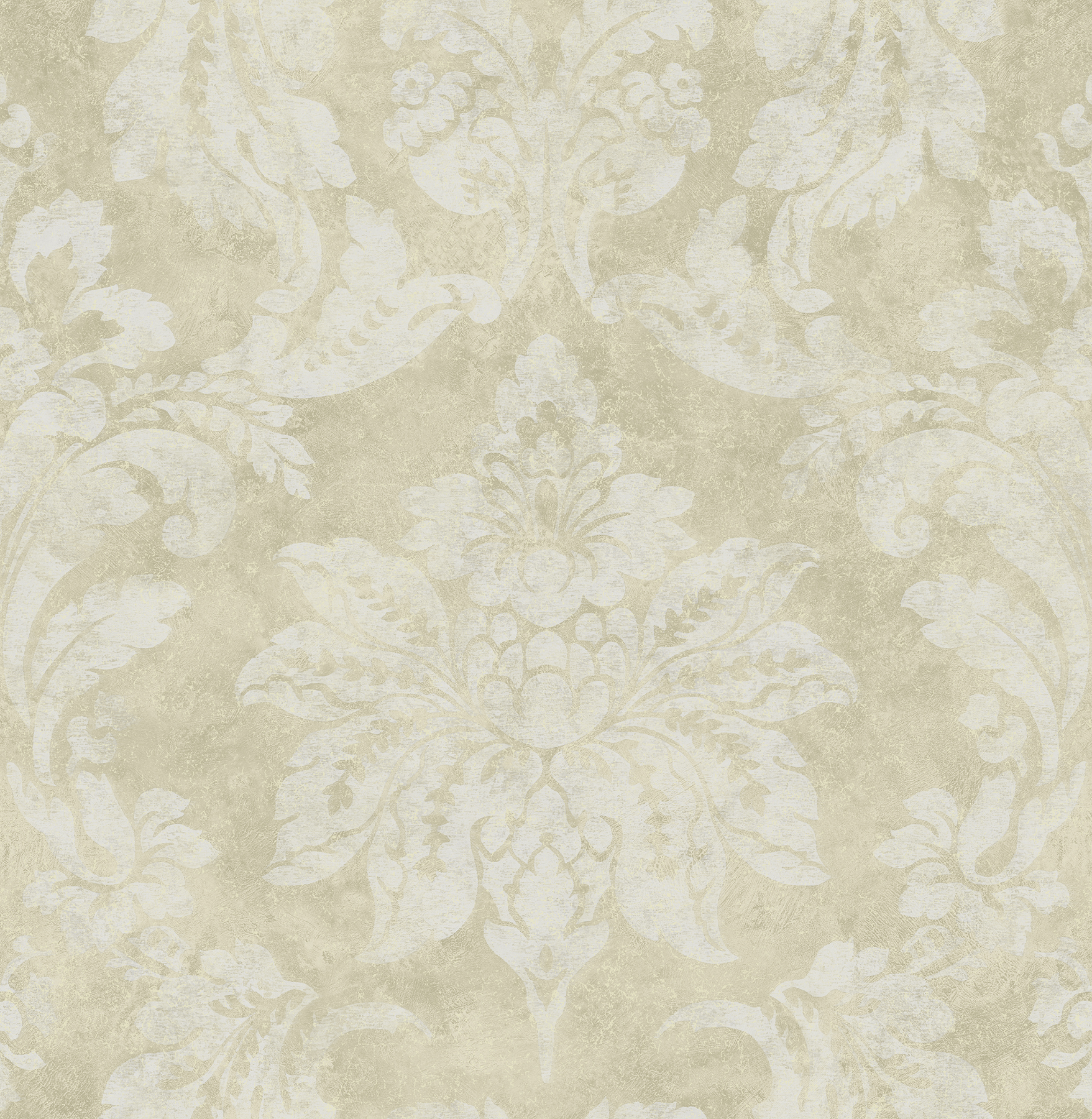 Picture of Astor Gold Damask Wallpaper