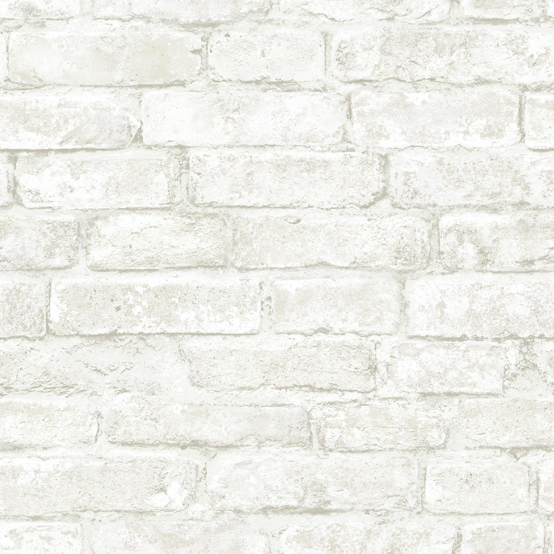 Picture of Arlington Off-White Brick Wallpaper