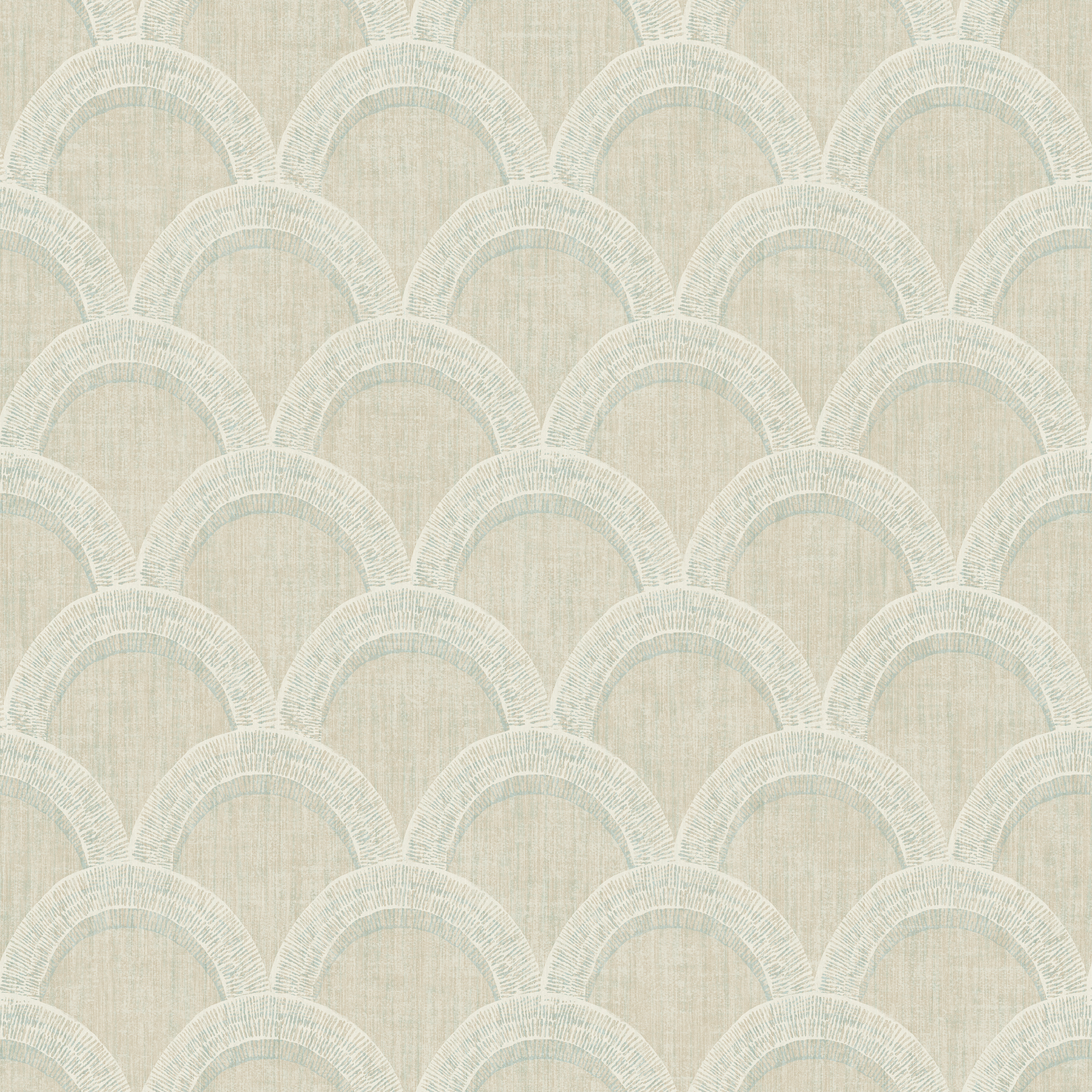 Picture of Bixby Khaki Geometric Wallpaper