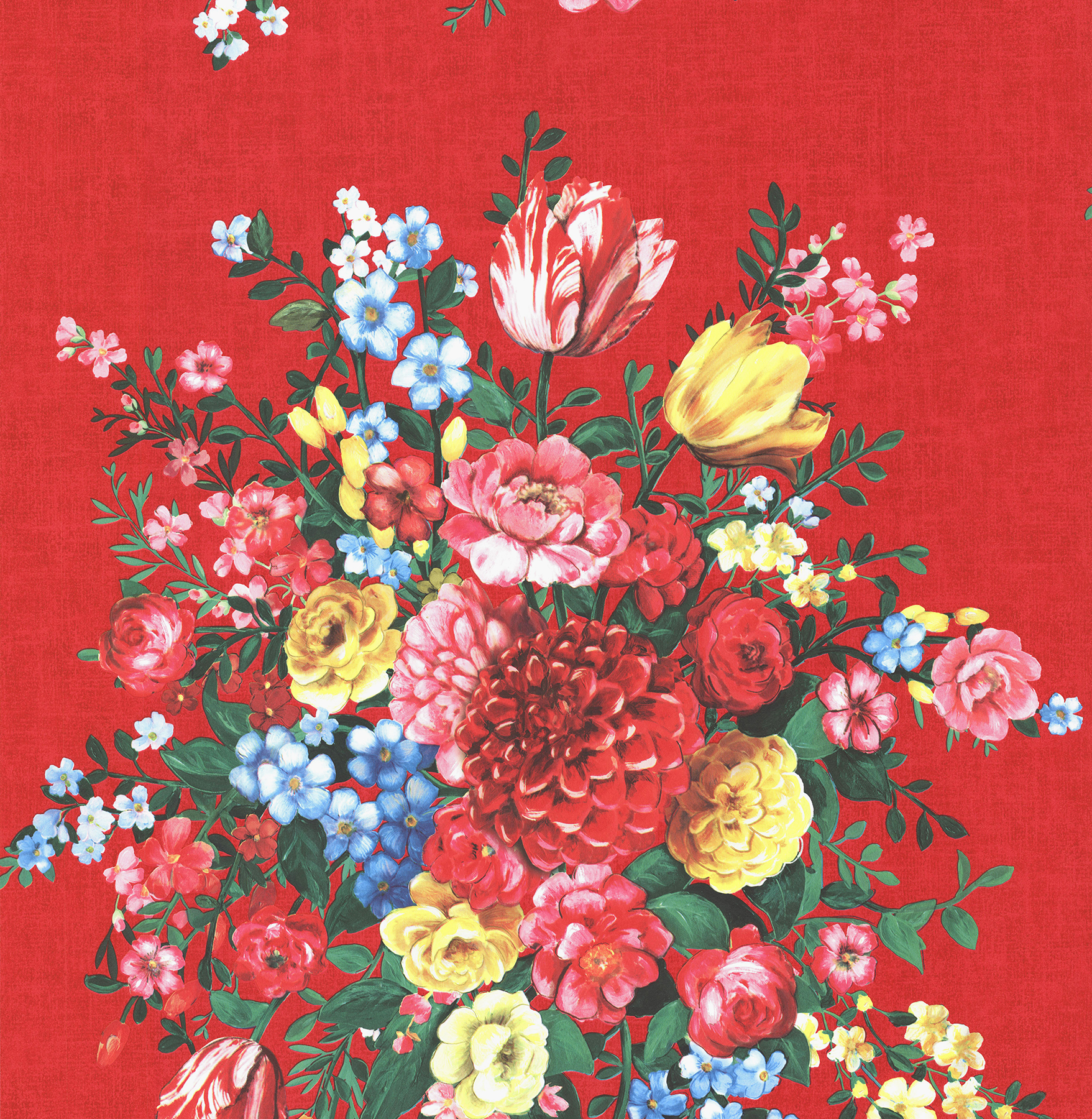 Picture of Ayaanle Red Dutch Painters Floral Wallpaper