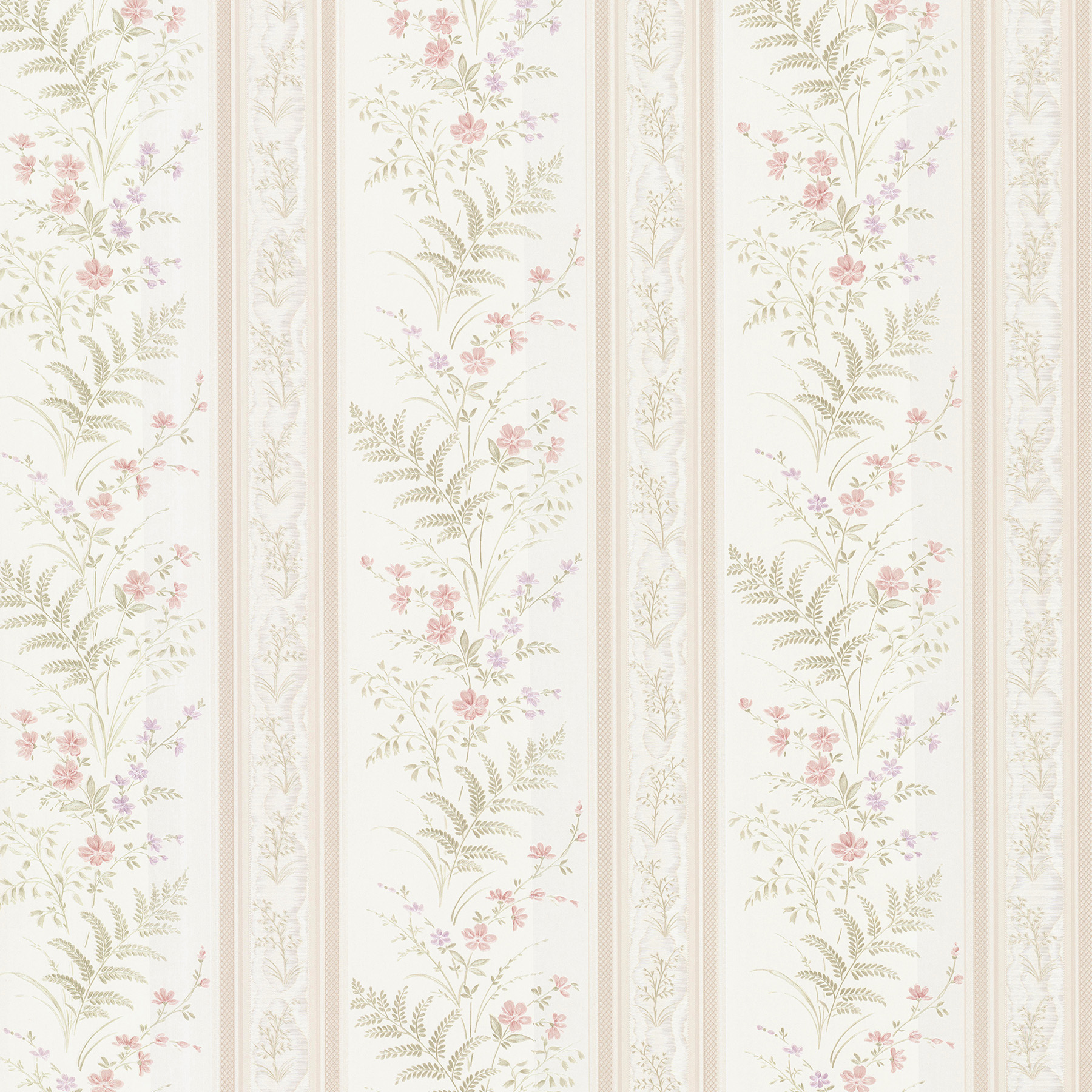 Picture of Bell Pink Wildflower Stripe Wallpaper