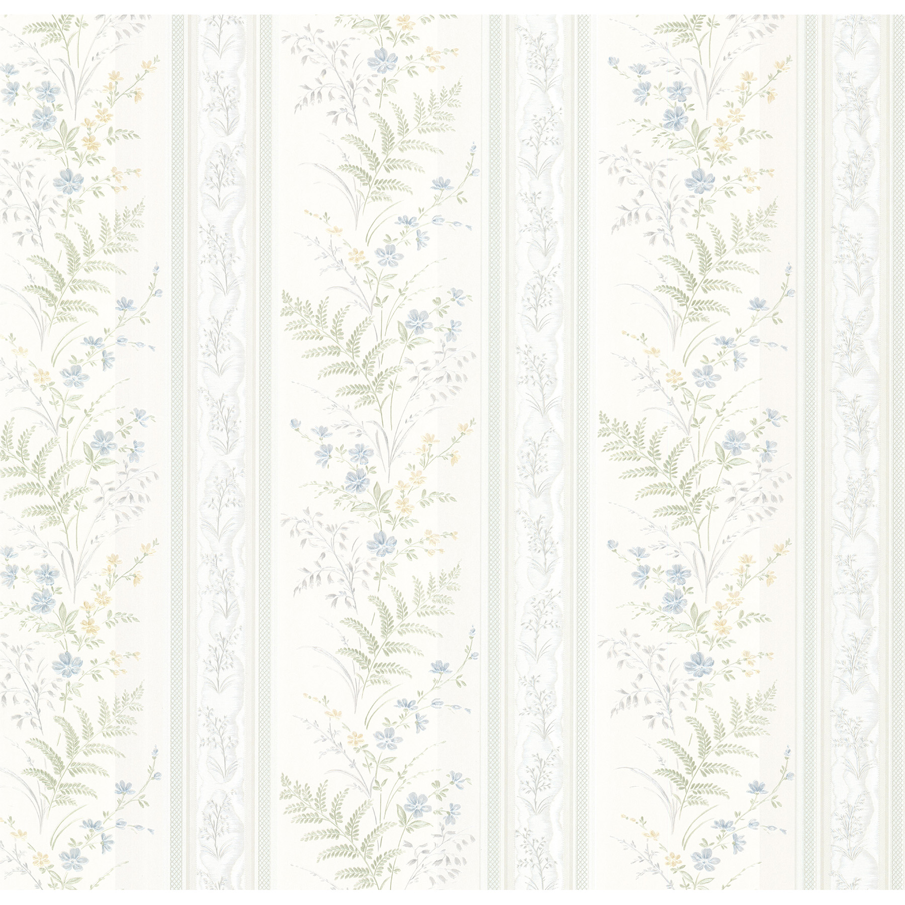Picture of Bell Blue Wildflower Stripe Wallpaper