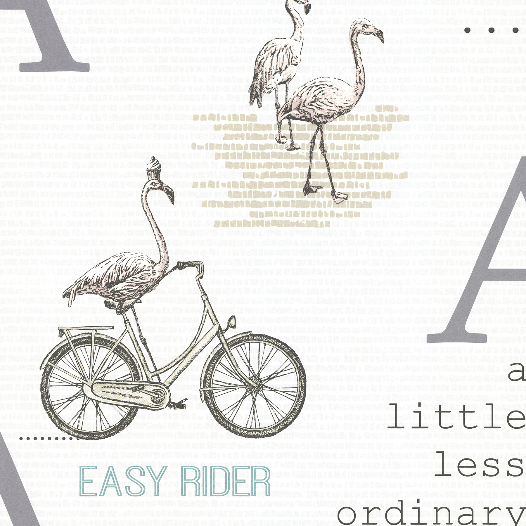 Picture of Aves Light Grey Graphic Wallpaper
