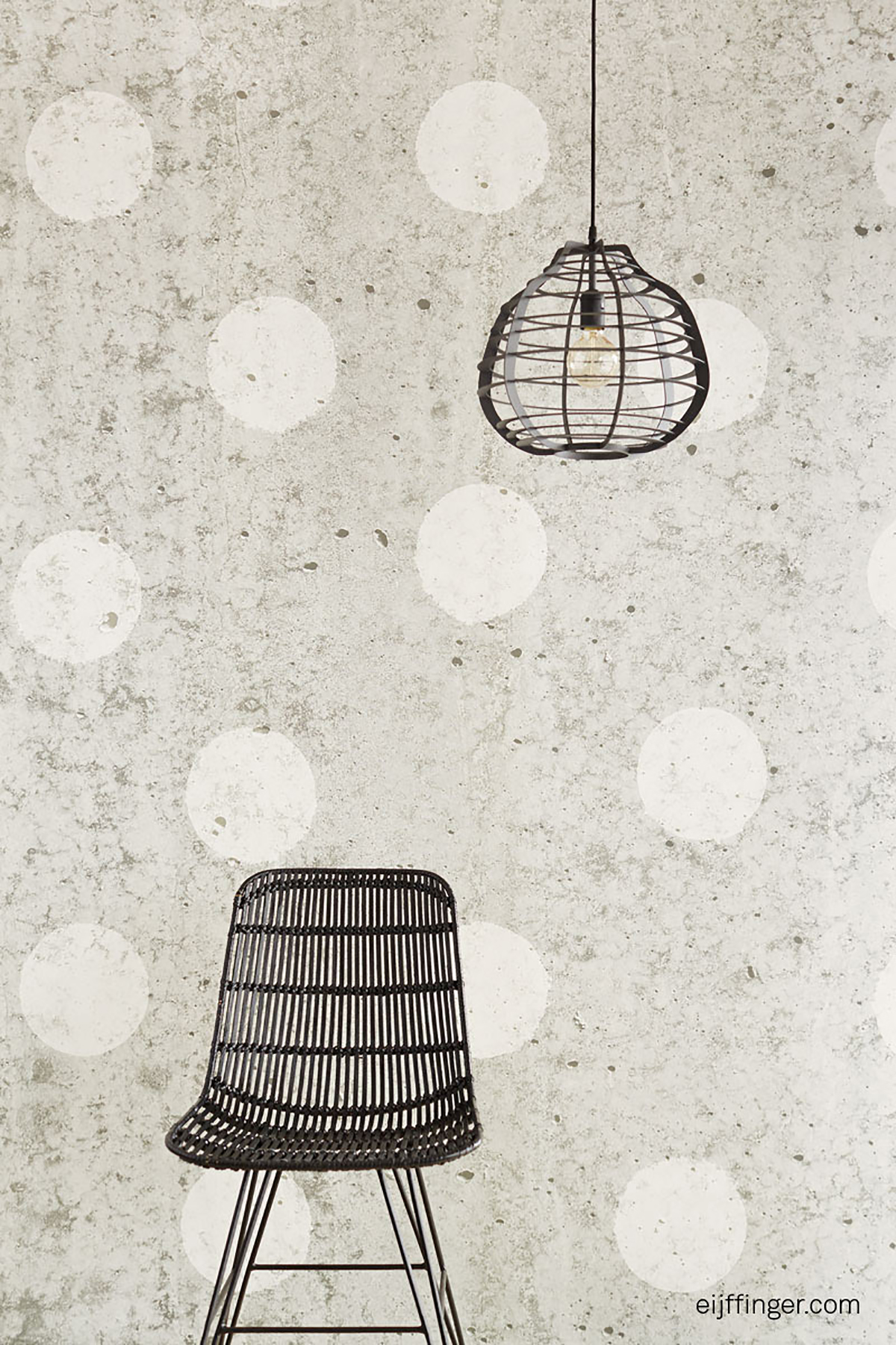 Picture of Concrete Dots Light Grey Polka Dot Mural