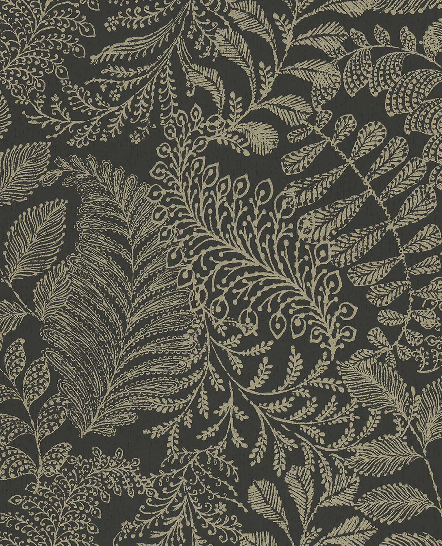 Picture of Balth Black Botanical Wallpaper