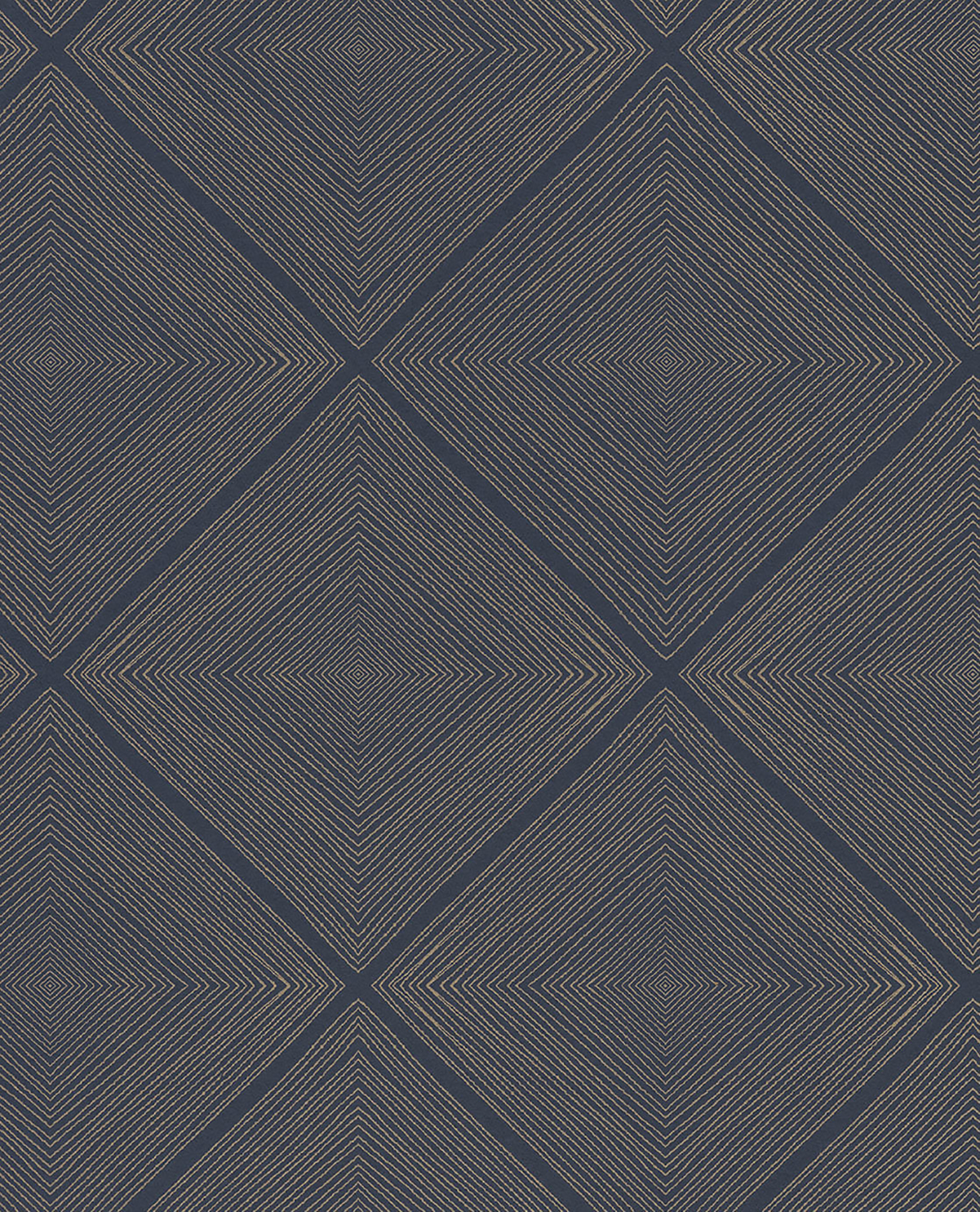 Picture of Aries Navy Geometric Wallpaper