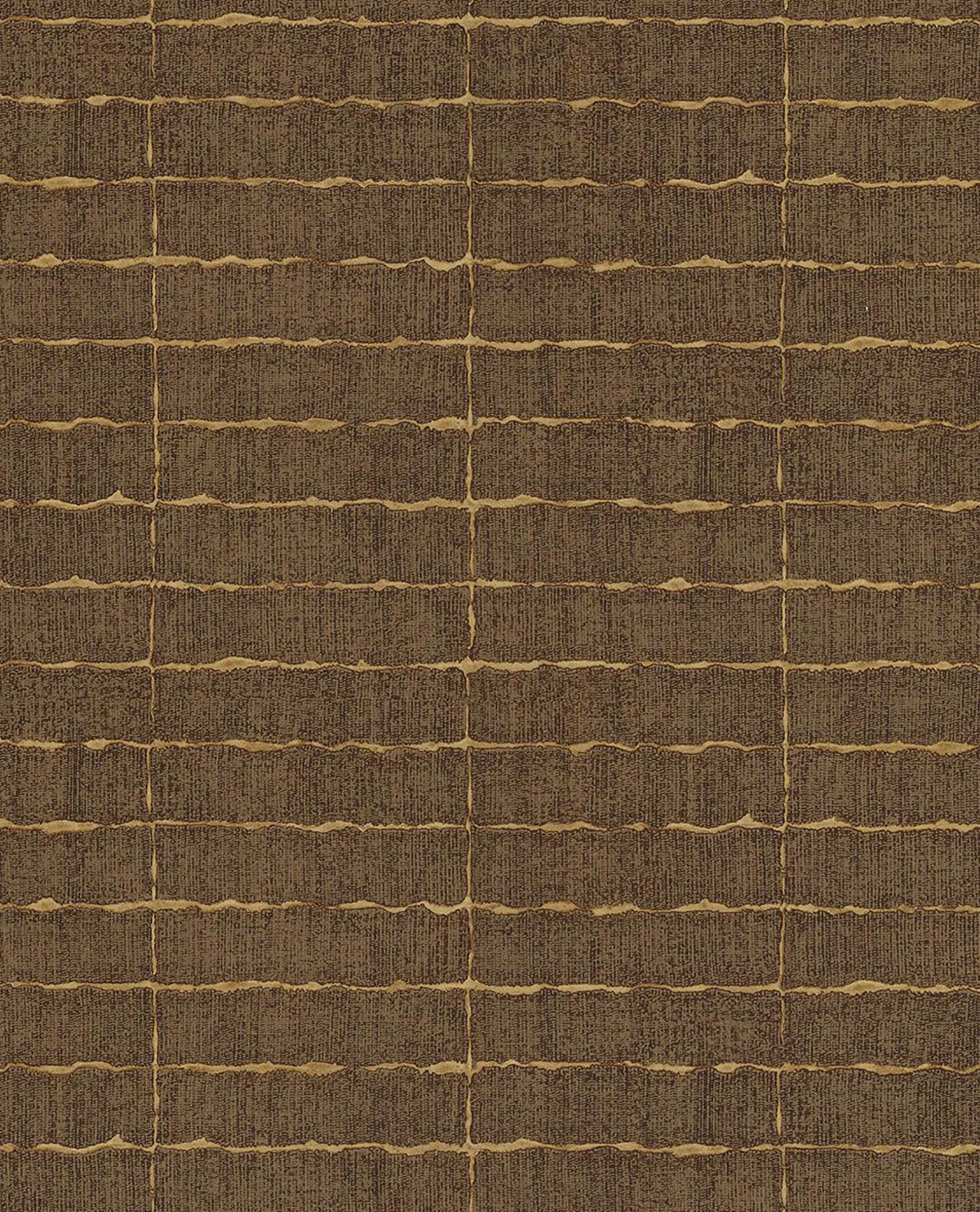 Picture of Batna Brown Brick Wallpaper