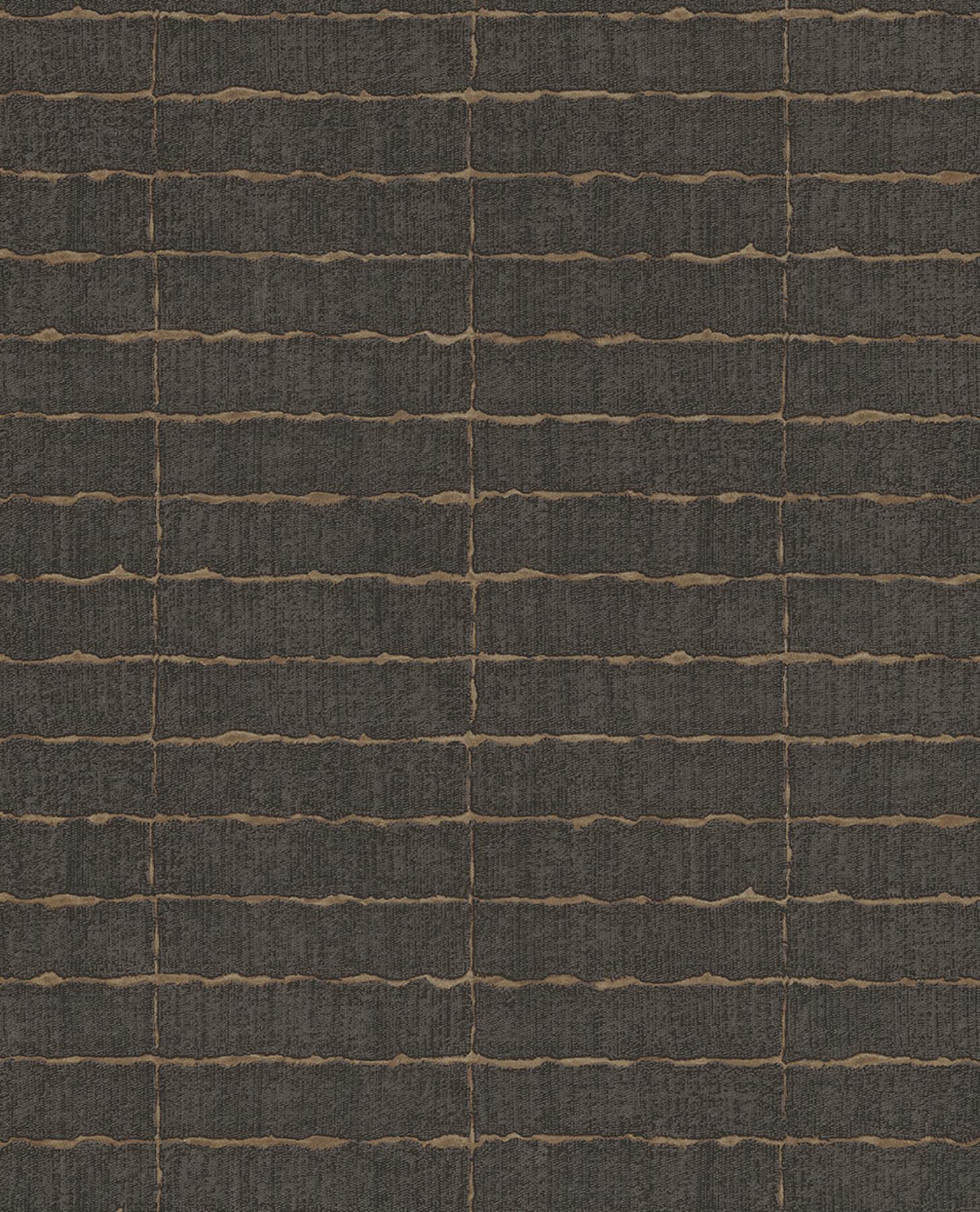Picture of Batna Dark Brown Brick Wallpaper