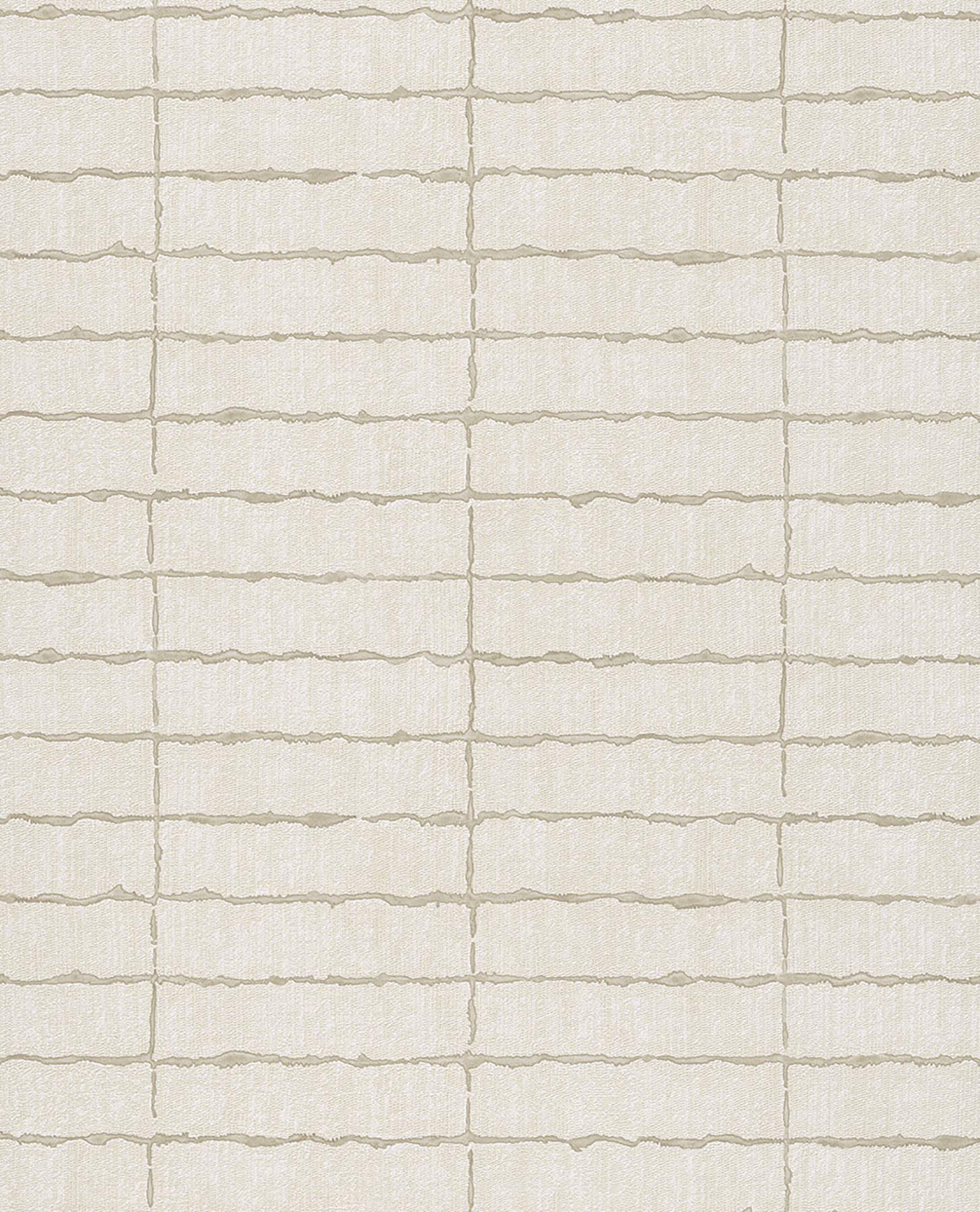 Picture of Batna Champagne Brick Wallpaper