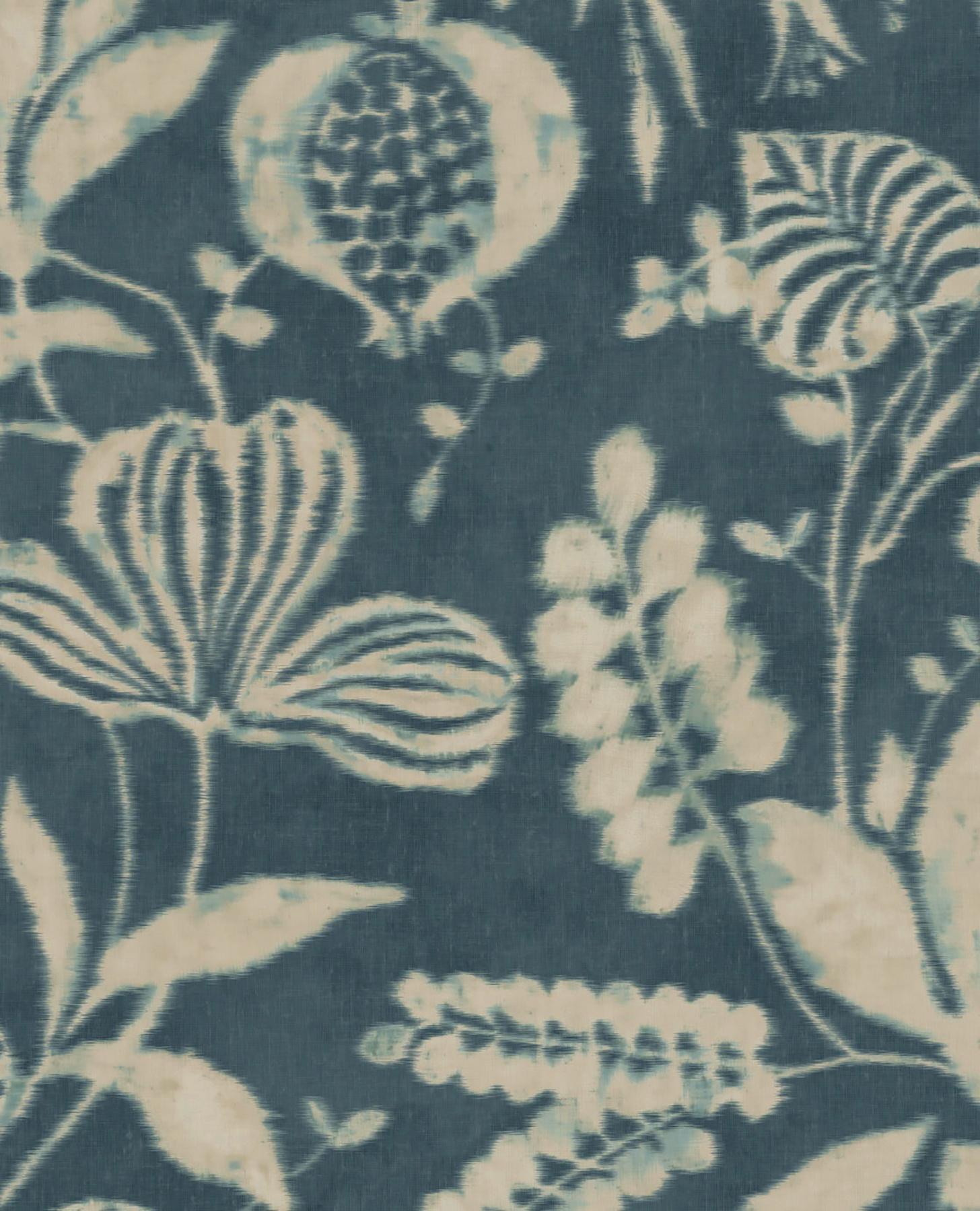 Picture of Arvada Indigo Botanical Wallpaper