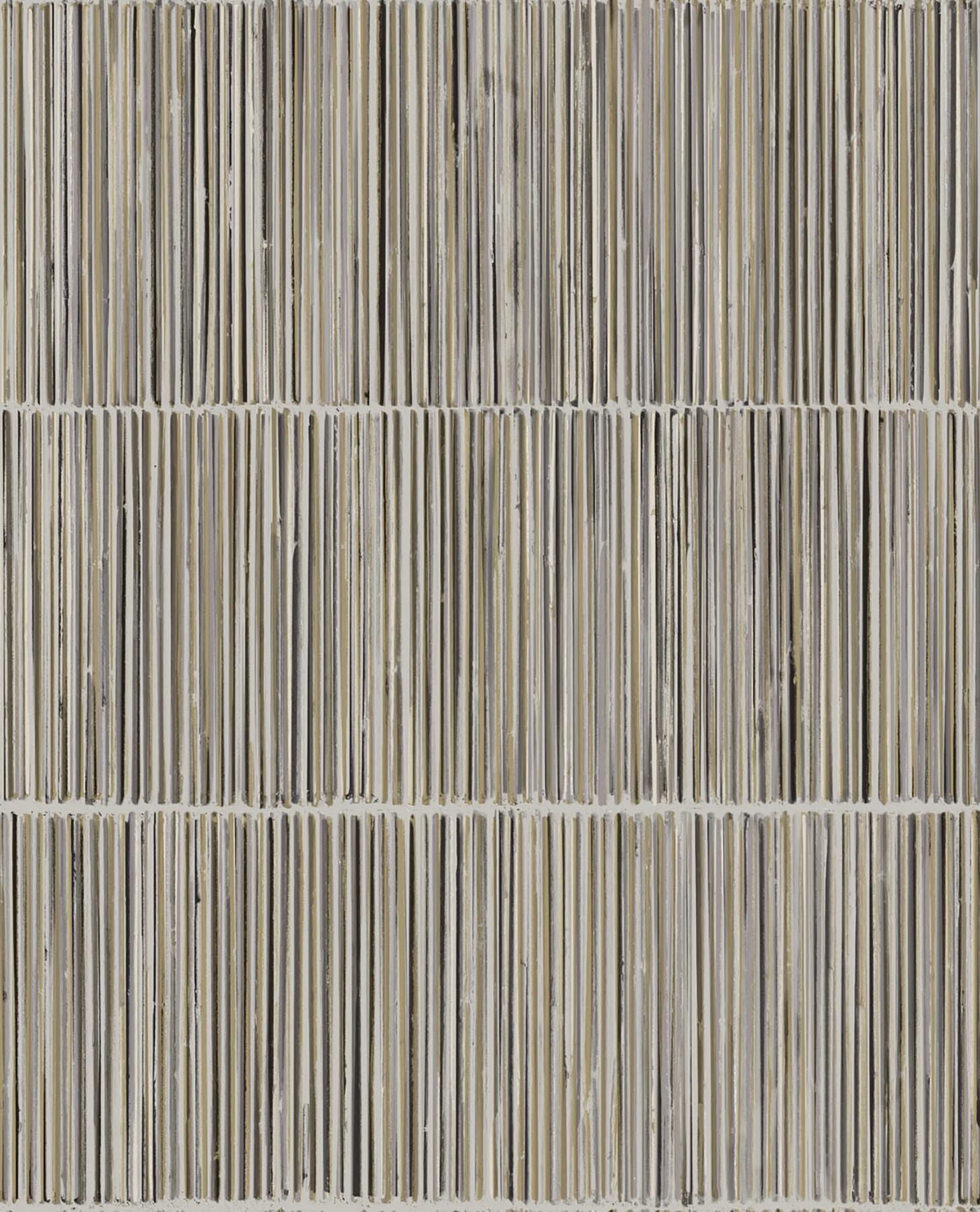 Picture of Aspen Grey Natural Stripe Wallpaper