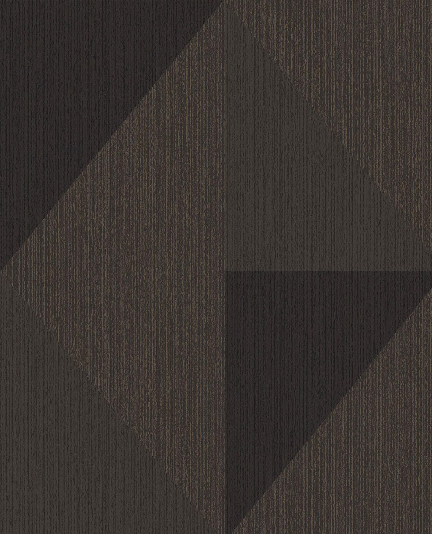 Picture of Diamond Bronze Tri-Tone Geometric Wallpaper