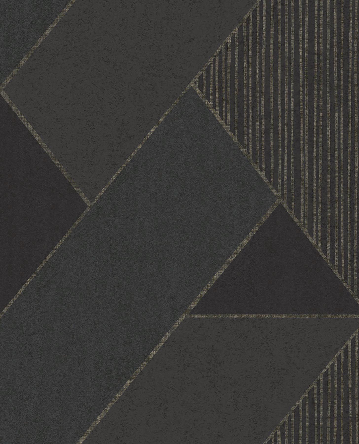 Picture of Art Deco Dark Blue Glam Geometric Wallpaper