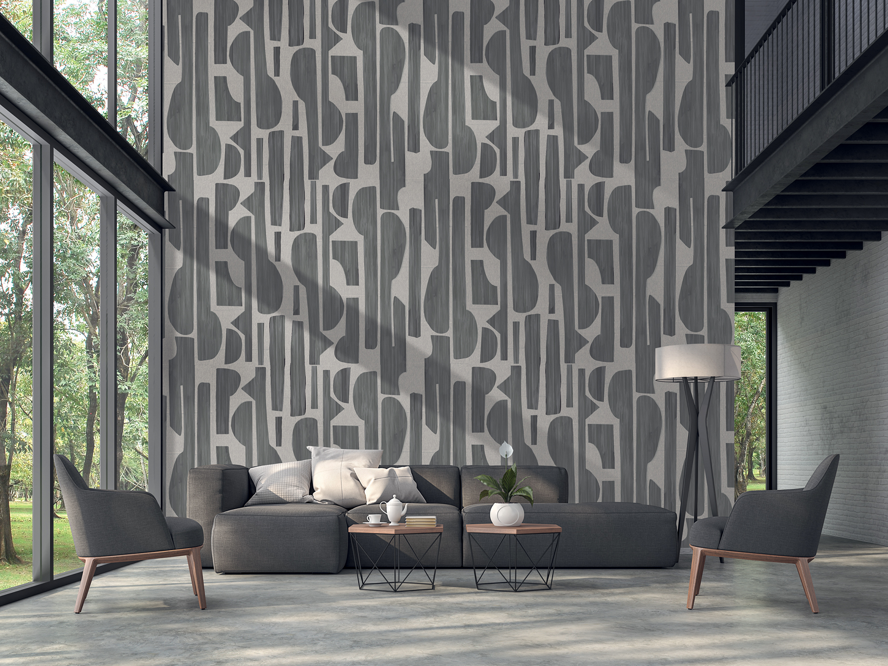 Picture of Black Linen Tapestry Wall Mural