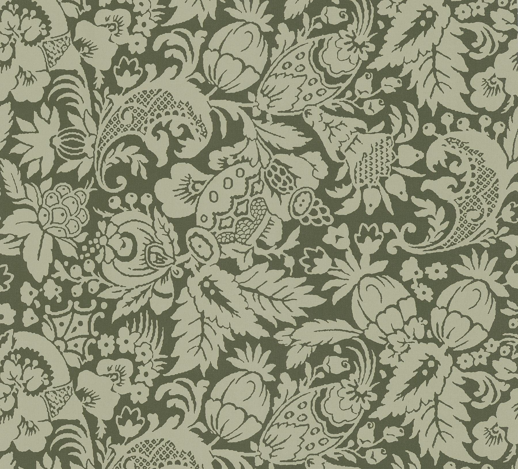 Picture of Bali Brown Scrolling Pattern Wallpaper