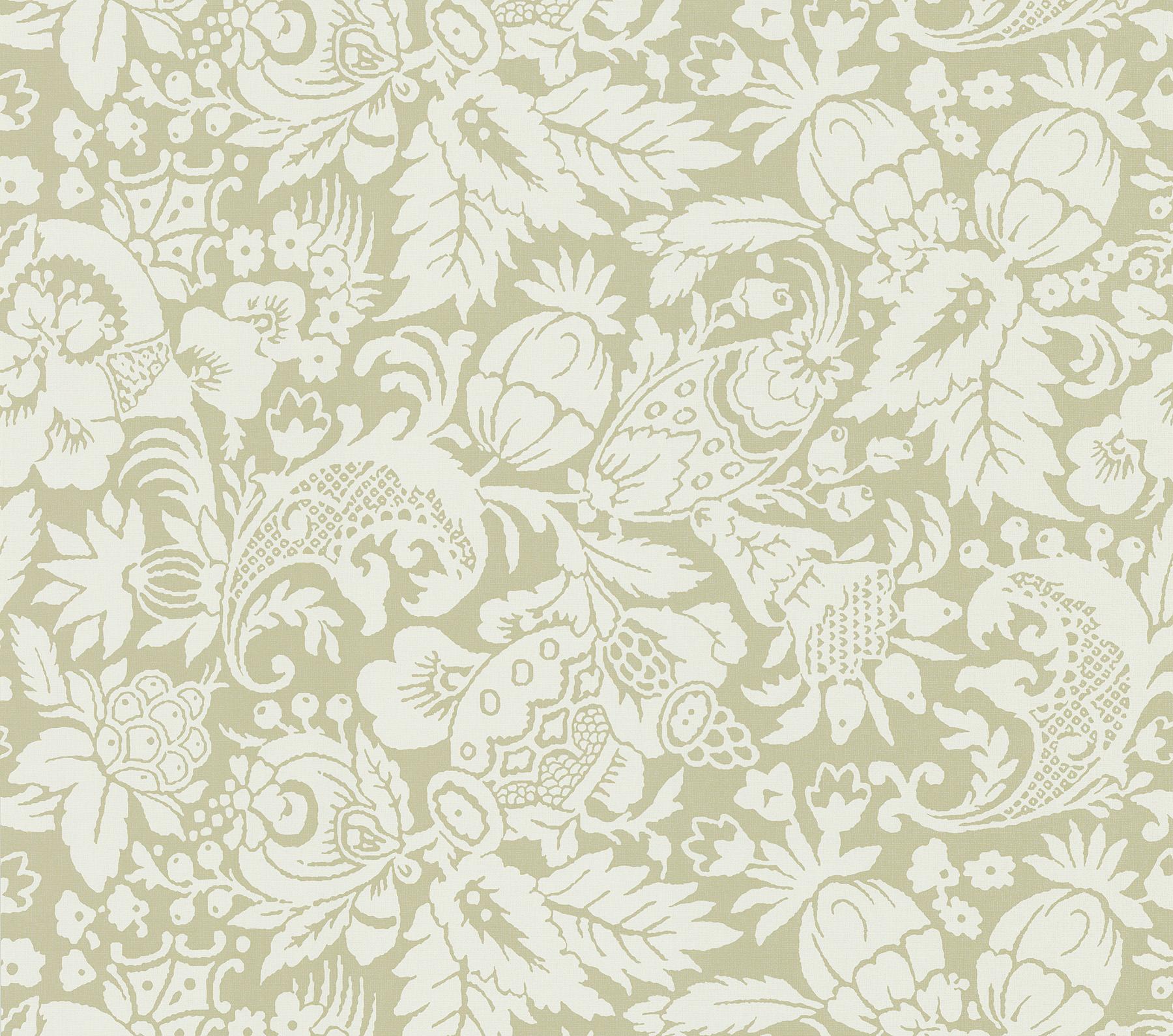 Picture of Bali Beige Scrolling Pattern Wallpaper