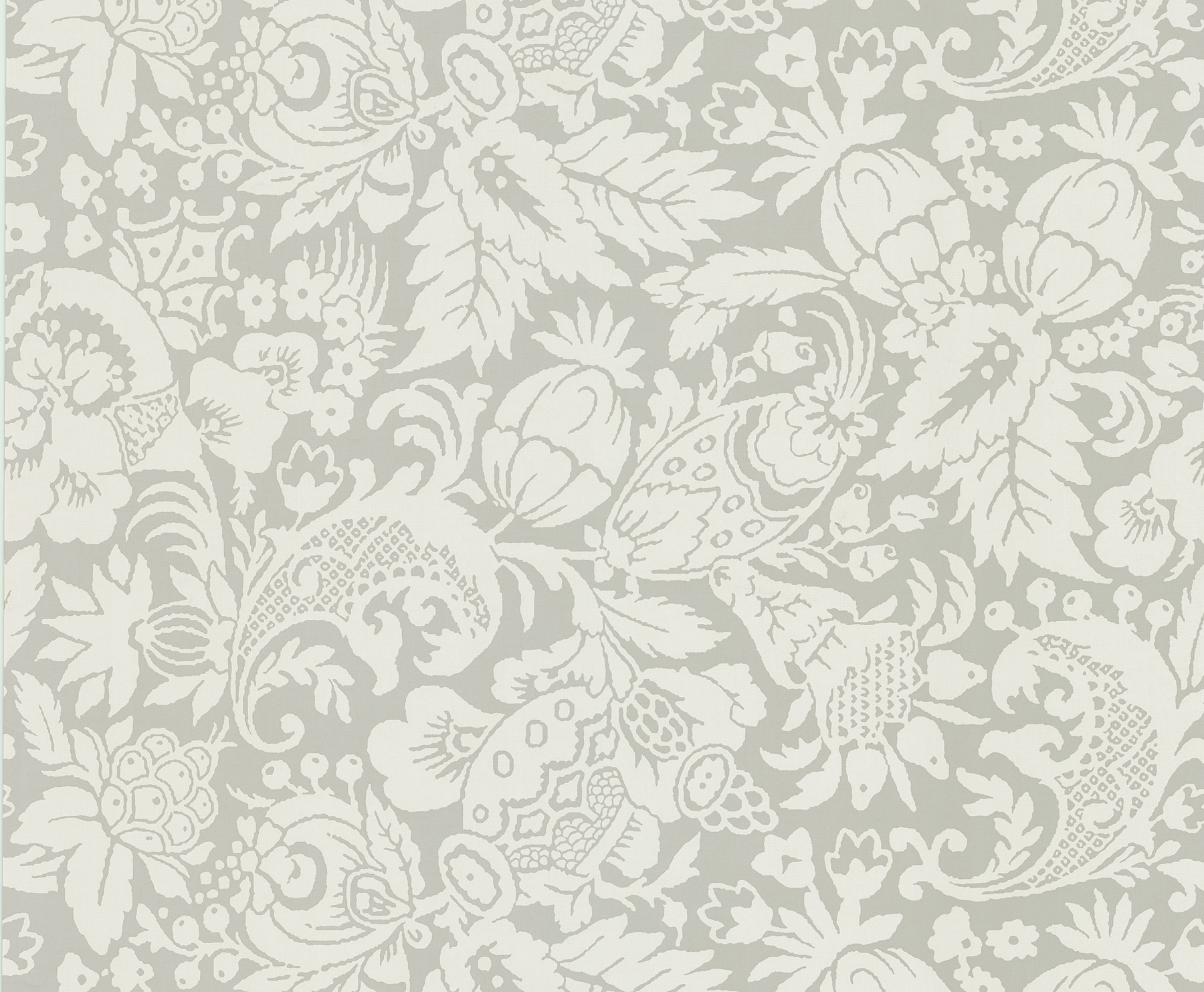 Picture of Bali Light Grey Scrolling Pattern Wallpaper