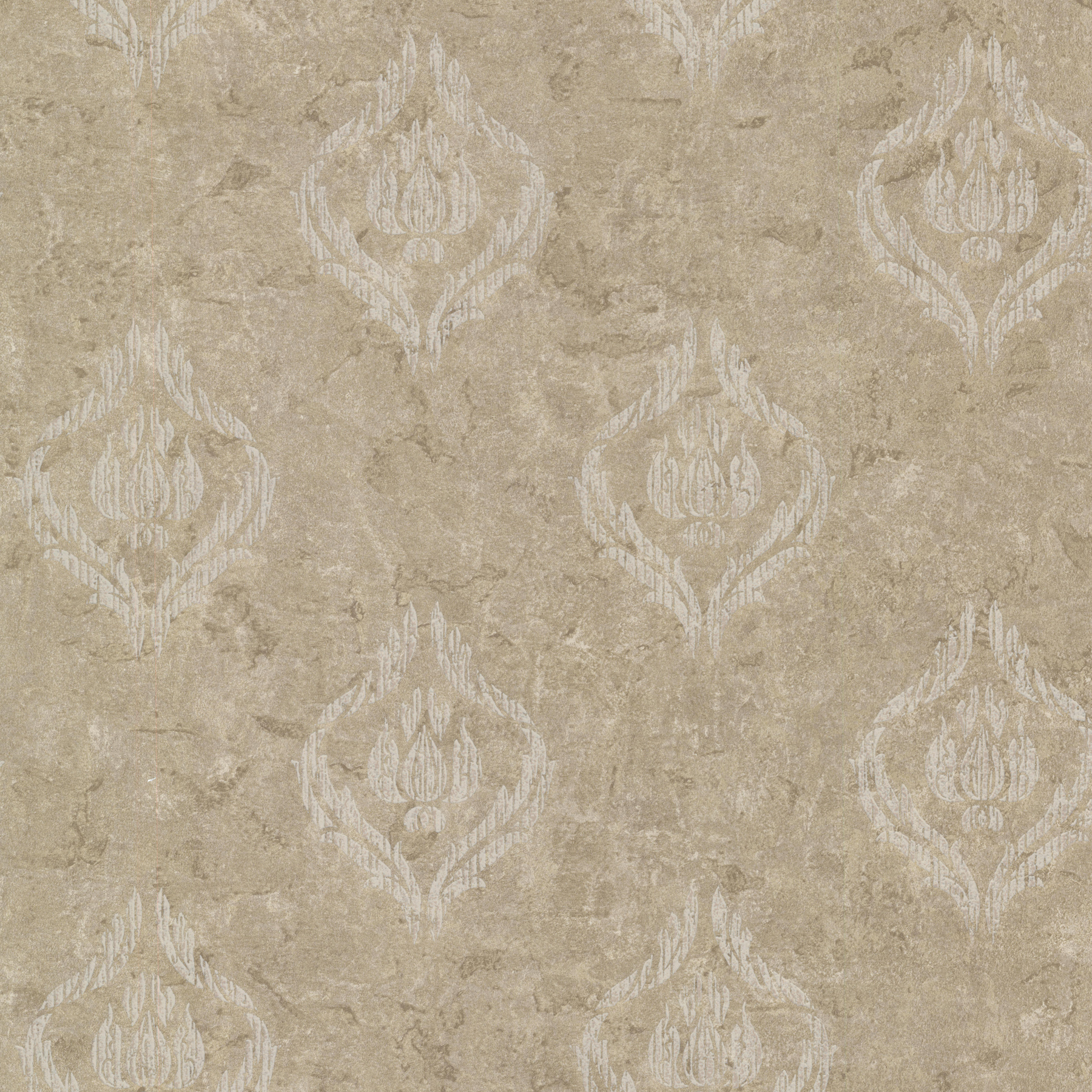 Picture of Benza Bronze Small Textured Damask Wallpaper
