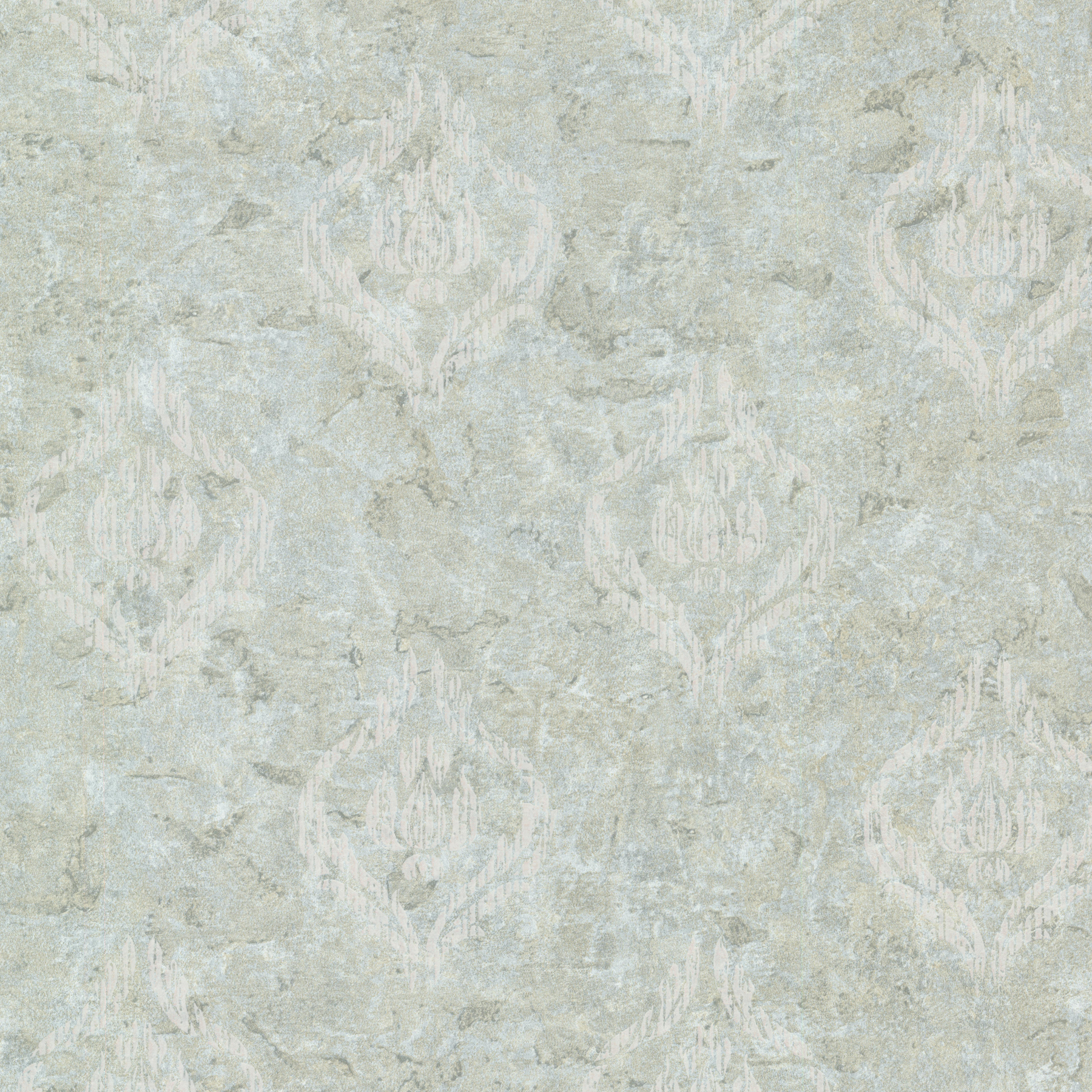 Picture of Benza Light Green Small Textured Damask Wallpaper
