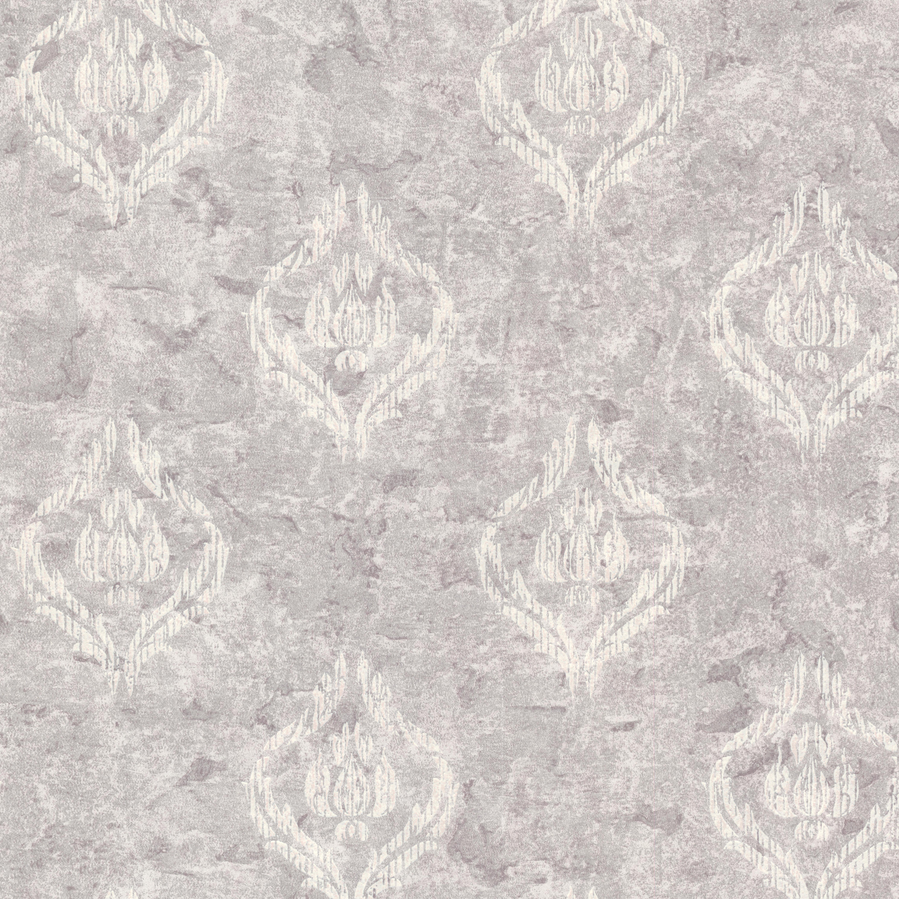 Picture of Benza Lavender Small Textured Damask Wallpaper