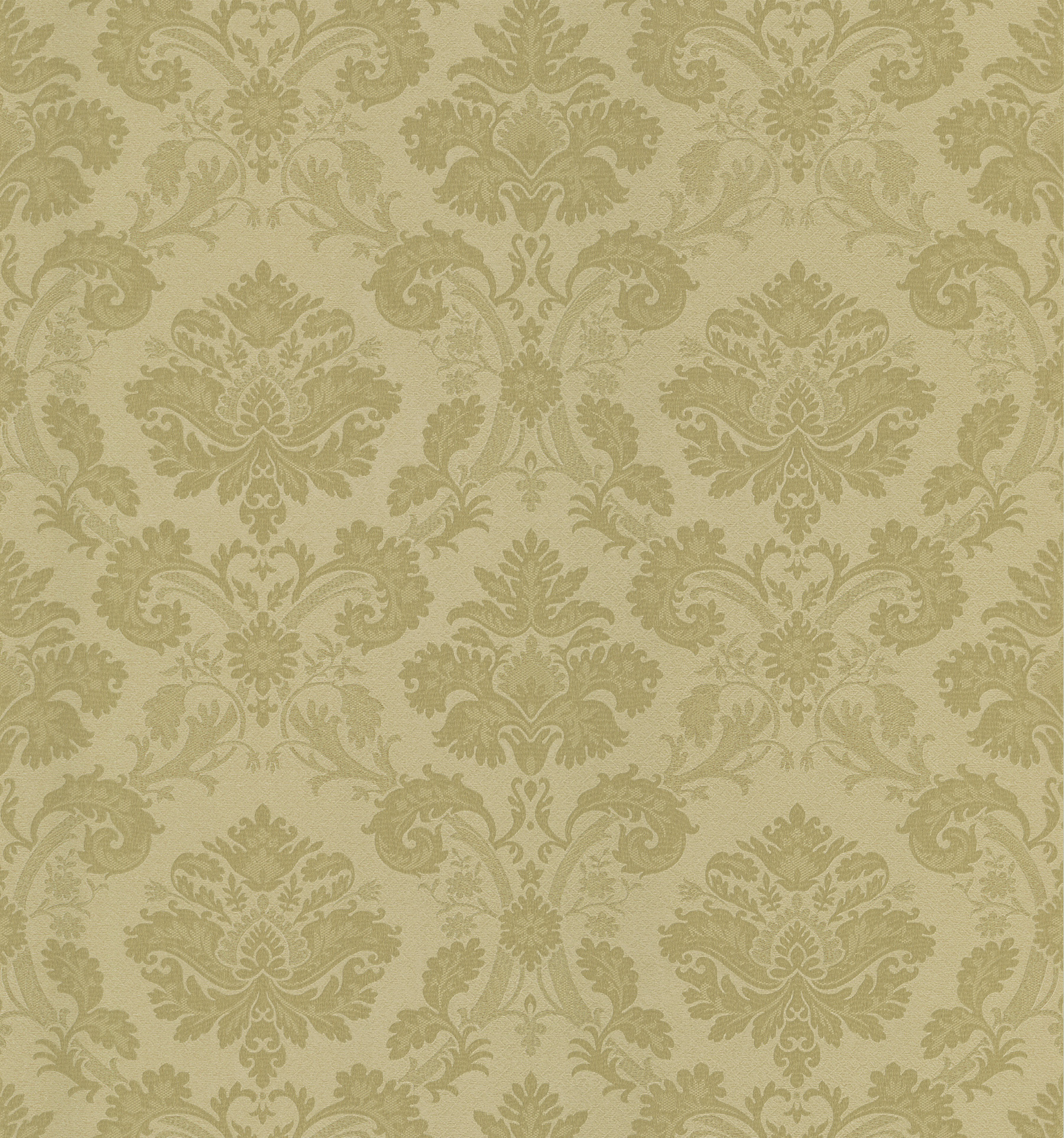 Picture of Bianca Gold Fabric Damask Wallpaper