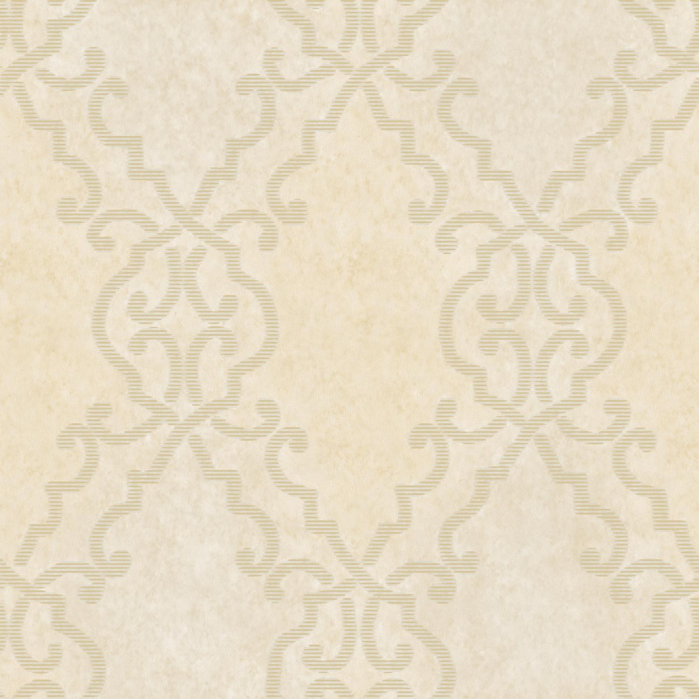 Picture of Bernaud Cream Persian Diamond Wallpaper