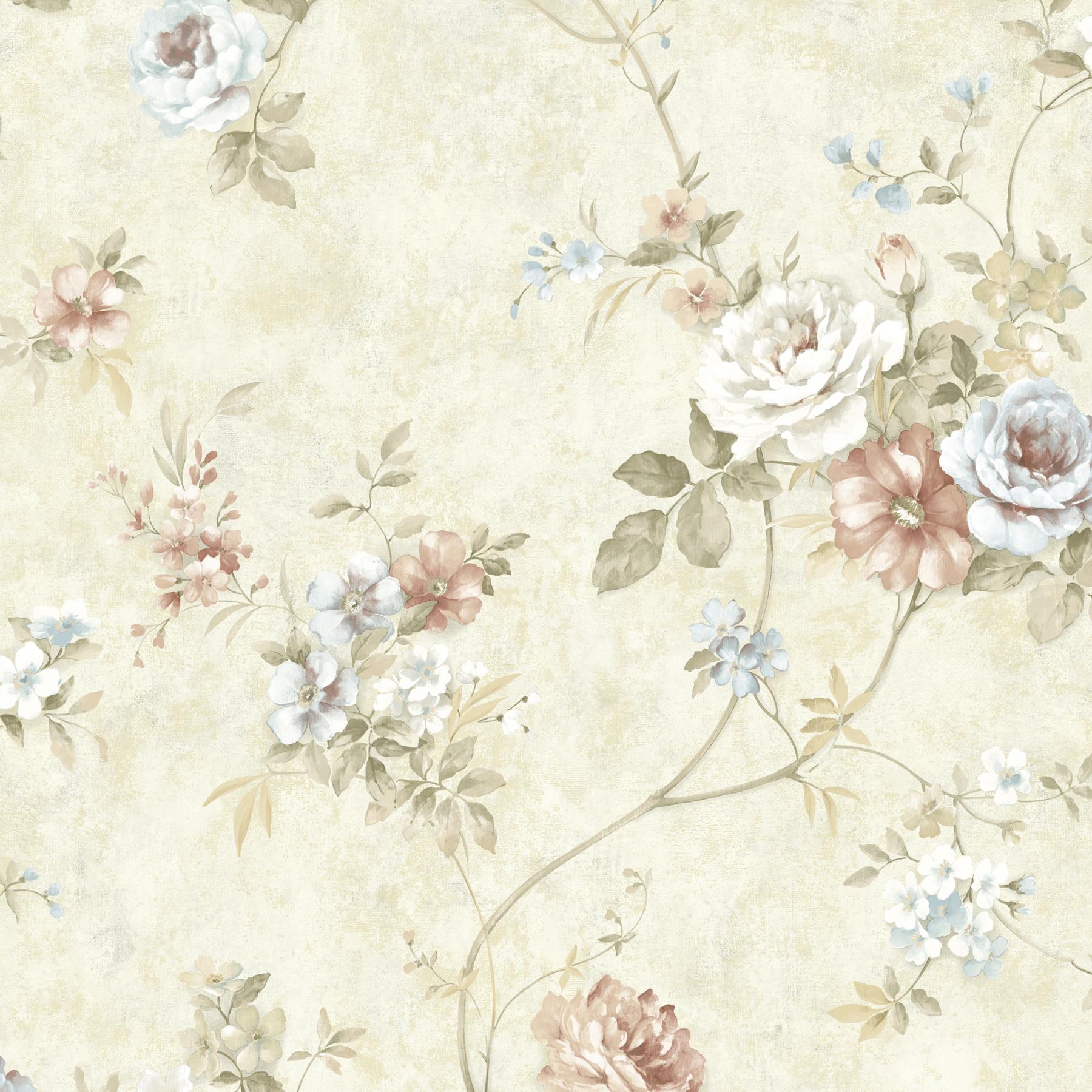 Picture of Arbor Rose Mauve Floral Trail Wallpaper