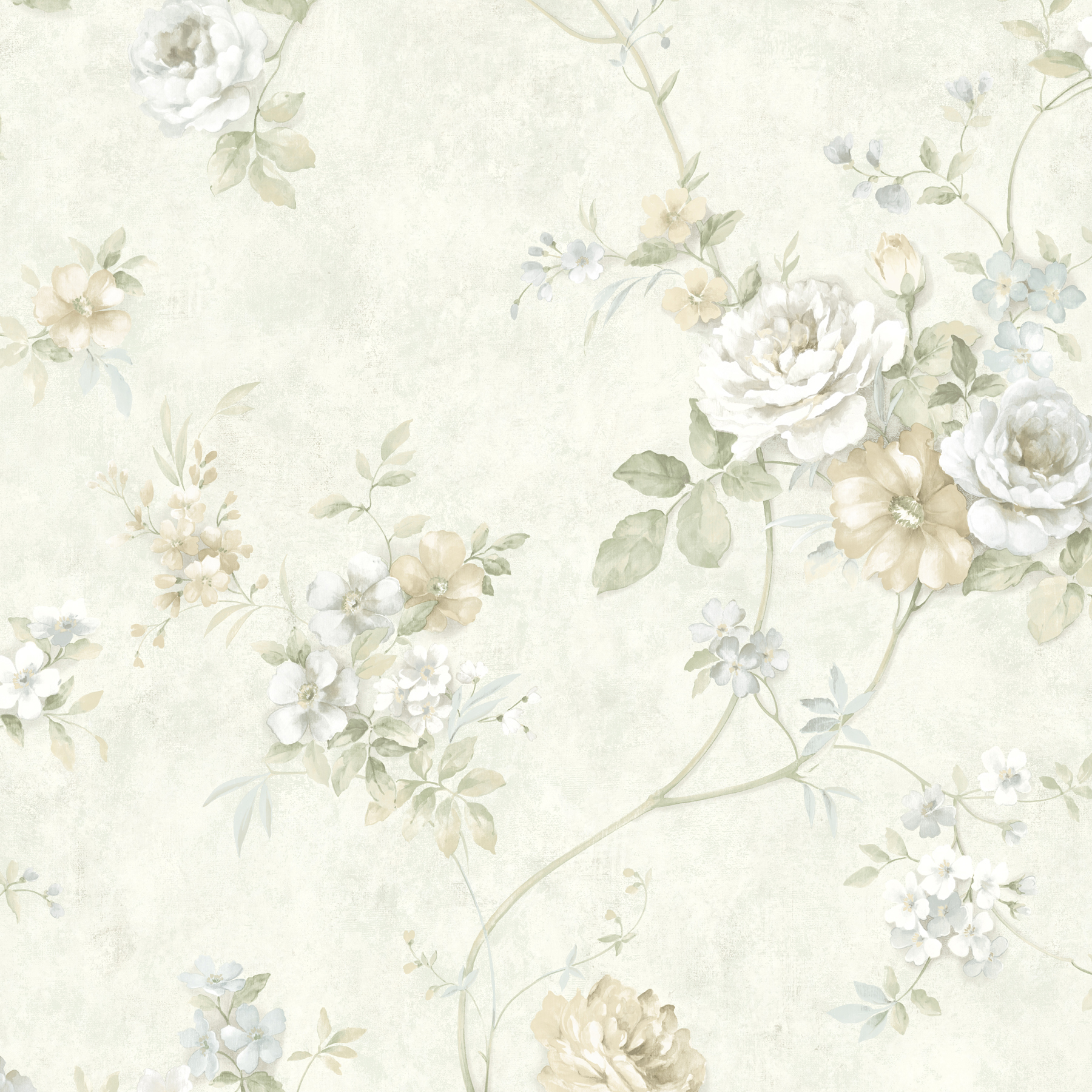 Picture of Arbor Rose Beige Floral Trail Wallpaper